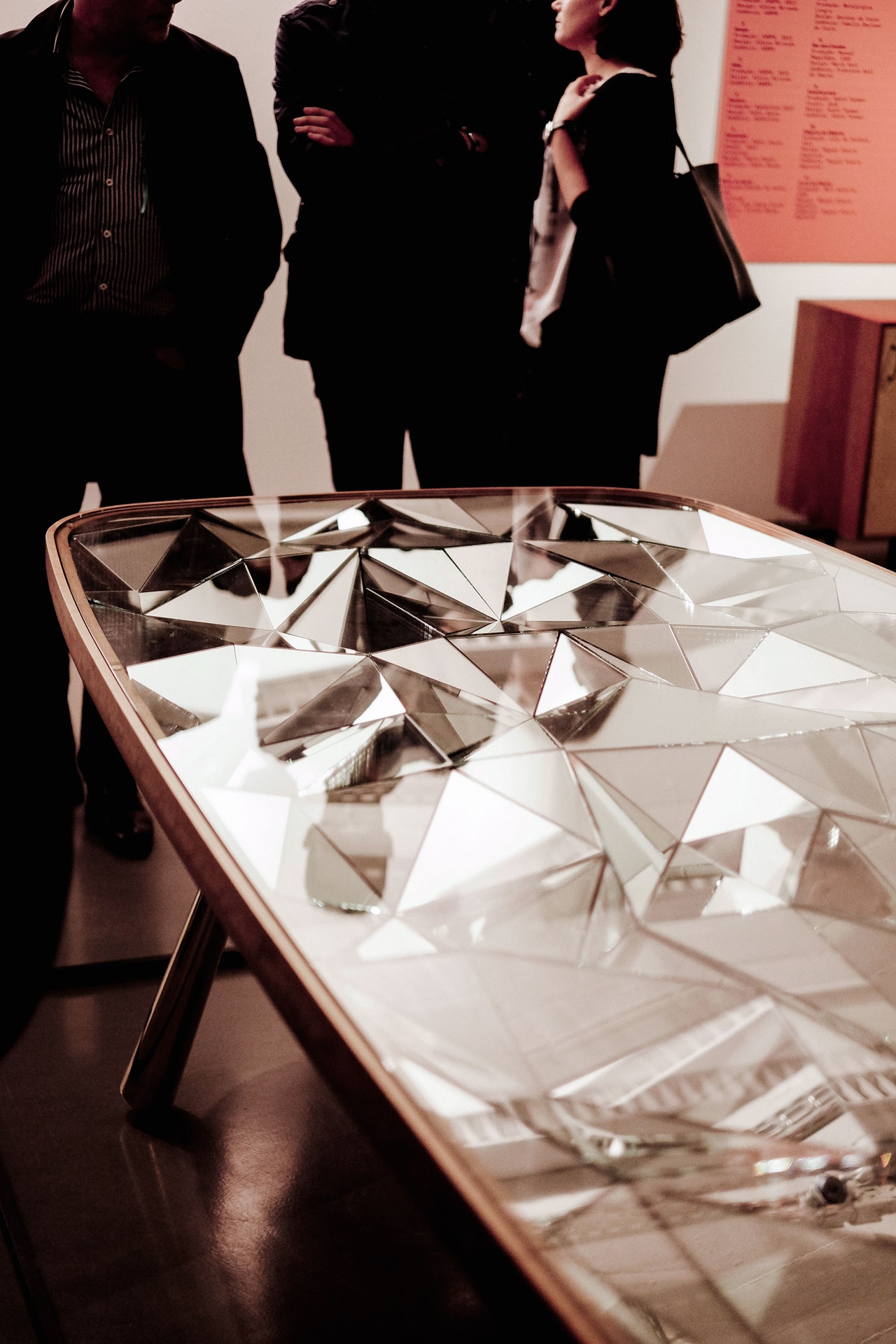 Kaleidoscope Table By André Teoman Studio. Made Of Cherry Wood, Glass,  Mirror And