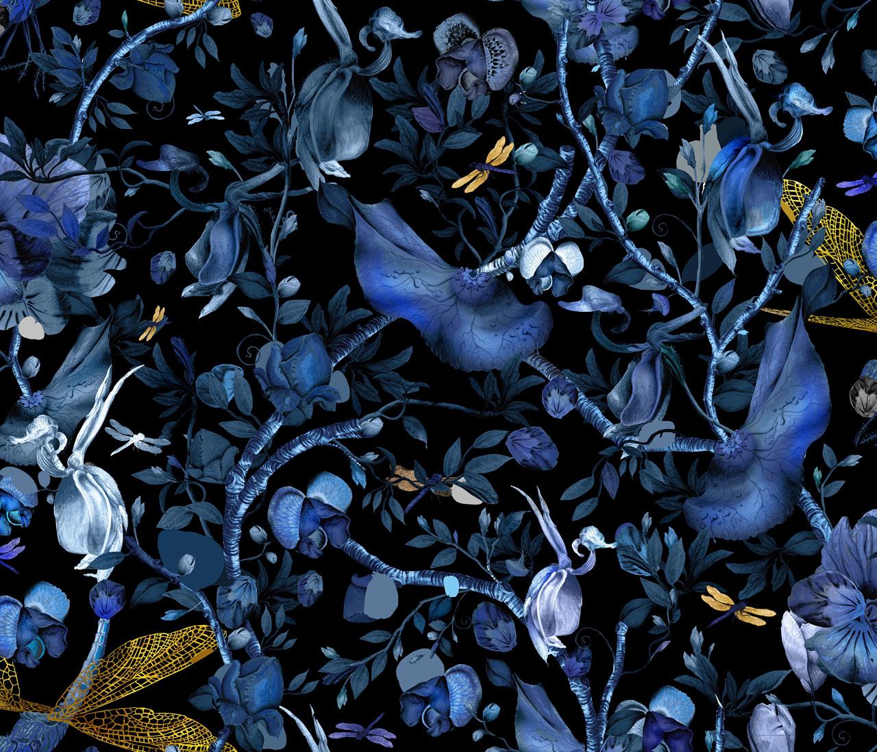 Biophillia rug British textile designer Kit Miles for MOOOICarpets.