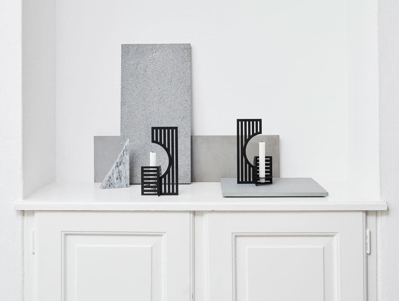 Bauhaus-inspiredDash Candlestick byKristina Dam Studio.