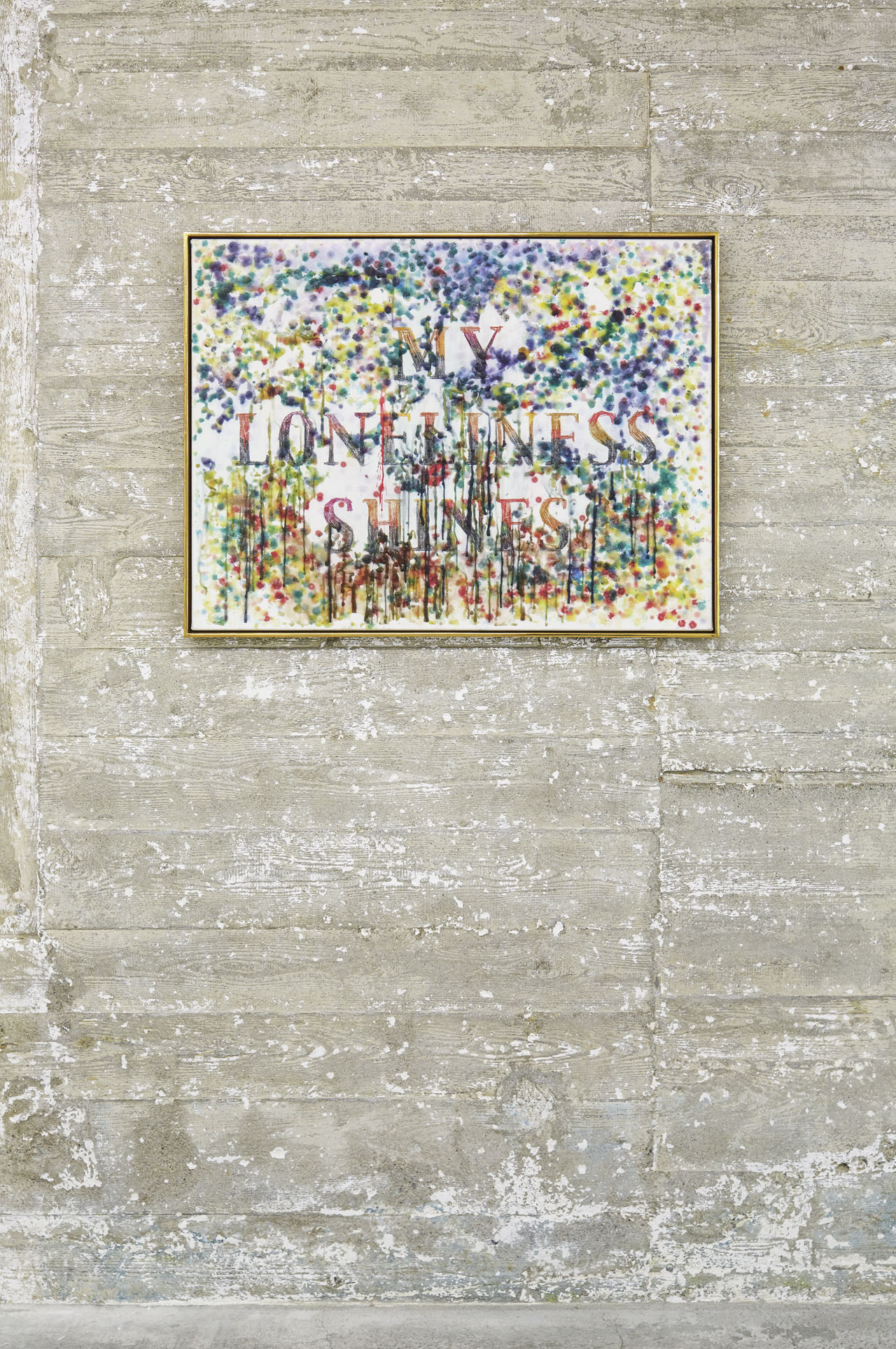 Friedrich Kunath, Ohne Titel (2006) | Wax crayon and colored pencil on canvas | 60 × 80 × 2 cm | Boros Collection, Berlin. Photo by NOSHE.