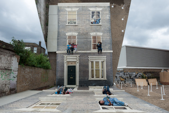Leandro Erlich: Dalston House Installation images© Gar Powell-Evans 2013 Courtesy of Barbican Art Gallery