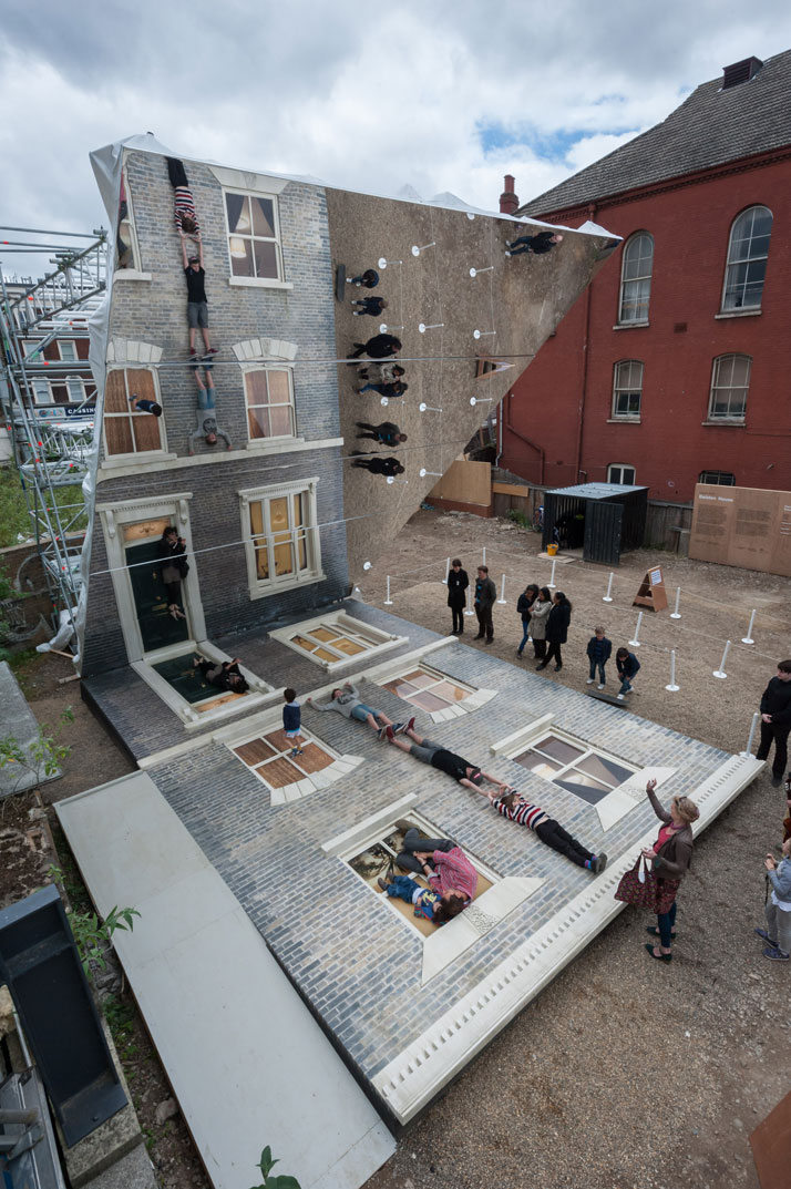 View from aboveLeandro Erlich: Dalston HouseInstallation images© Gar Powell-Evans 2013 Courtesy of Barbican Art Gallery
