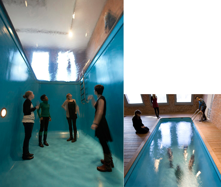 Leandro ErlichSwimming Pool, 2008installation view at MoMA PS1, New York mixed media, dimensions variable© Leandro ErlichPhotography: Matthew Septimus Courtesy: Sean Kelly Gallery, New York