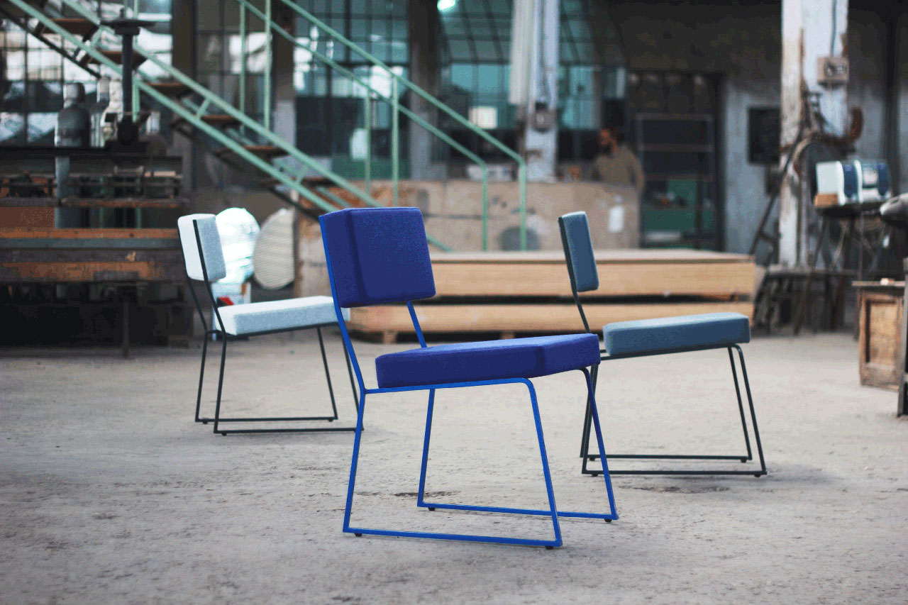 Jamil dining chairs by Local Industries. Photo by Elias Anastas.