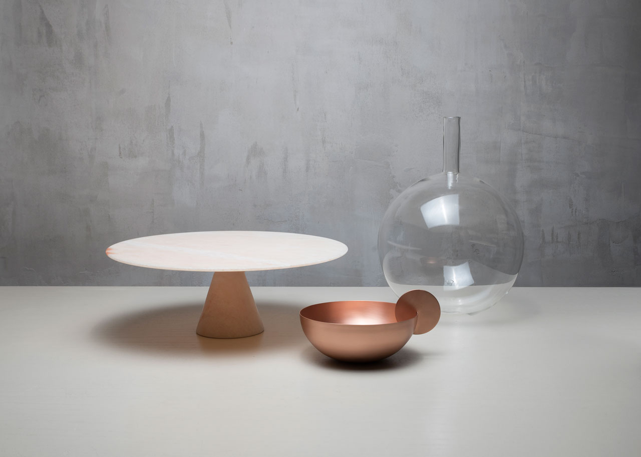 LUNAR LANDSCAPE tableware collection by Elisa Ossino for Paola C.Photo © Giorgio Possenti.