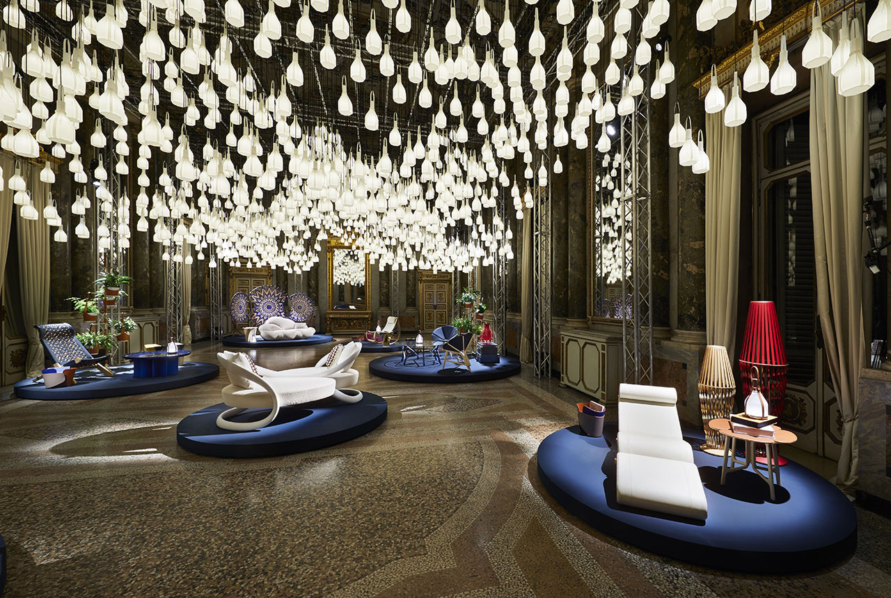 Louis Vuitton's Objets Nomades Collection at Palazzo Serbelloni.Photo © Louis Vuitton.
