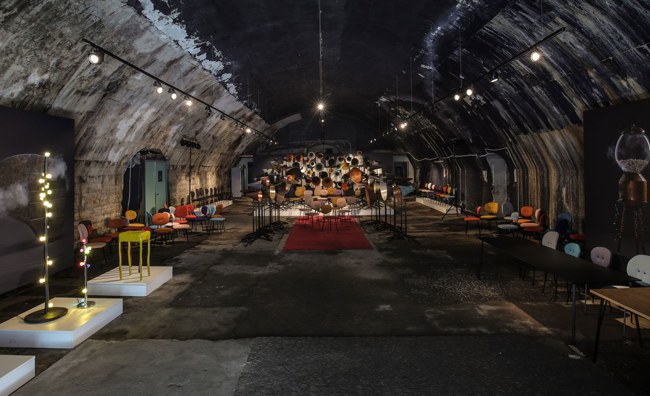 Maarten Baas, in collaboration with Lensveltshowcased his latest work, an installation titled: May I Have Your Attention Please?at the Central Station's Magazzini Raccordati, where he openedthe doors to one of the vaults, adjacent to one of Italy's busiest railway stations. WINNER ofMilano Design Award 2017 Best Concept.Photo by Marielle Leenders.