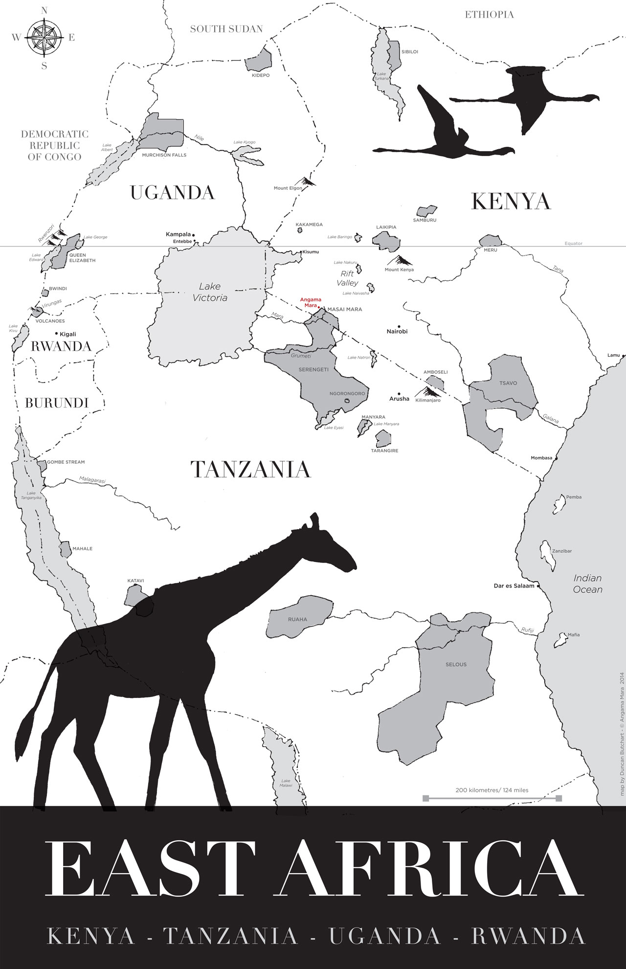 Map by Duncan Butchart © Angama Mara.