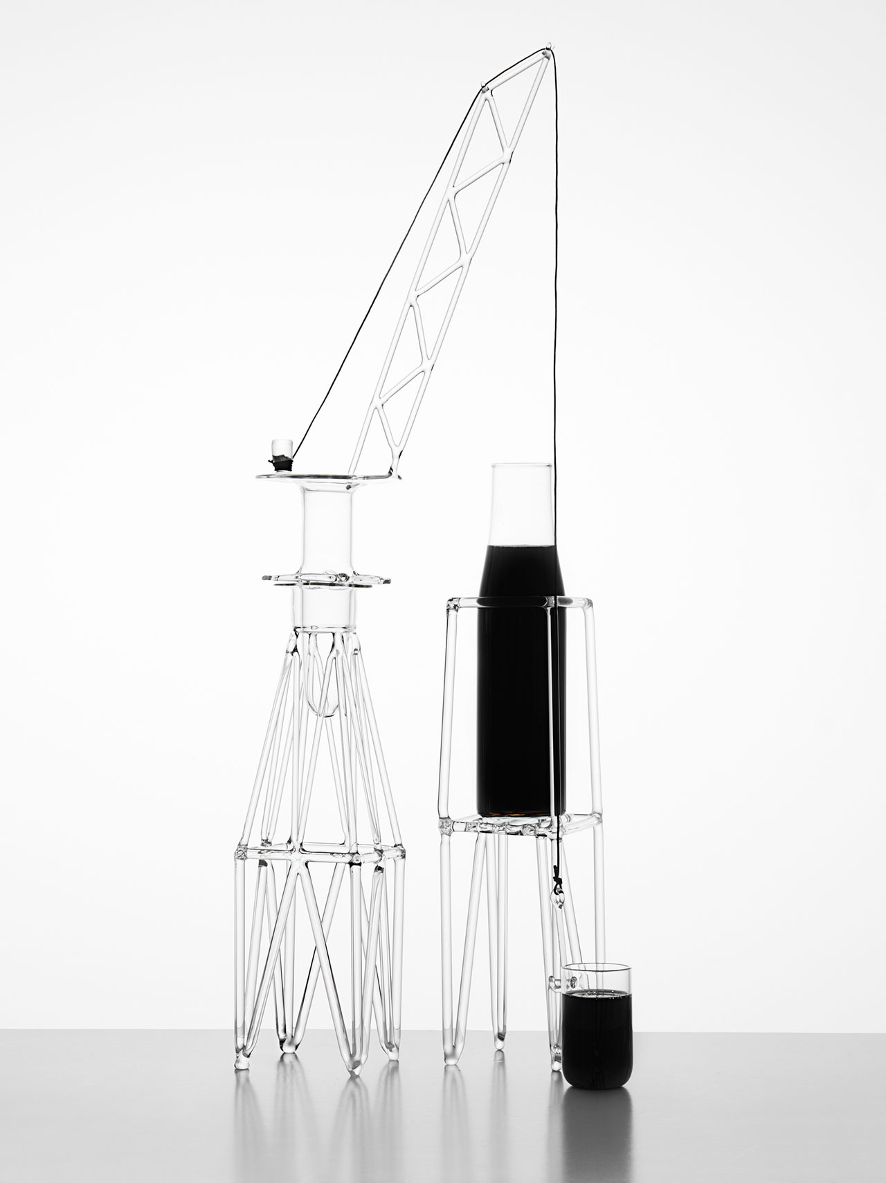MAR_GH'ERA by Andrea Trimarchi and Simone Farresin from Studio Formafantasma for the DRAWING GLASS by Fabrica x ARTDESIGN exhibit curated by Euroinnovators, co-produced by Le5Vie cultural association and D33 (holder of the Venice Design Week brand).