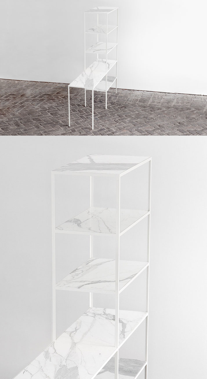 Rack + Table (Marble) by Muller Van Severen.