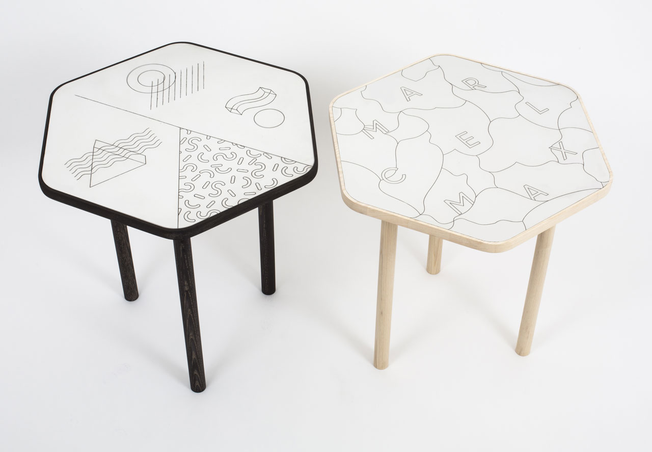Side tables by Marcel Max.