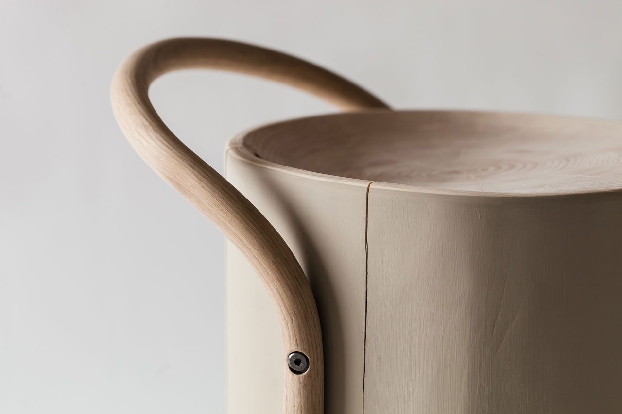 MARUTA stool (detail) by SHINYA YOSHIDA DESIGN.