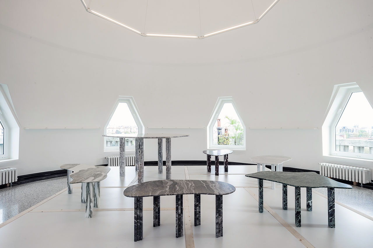 SIX TABLEUX series of marble tables designed by BINOCLE and built by ATZARA MARMI with the support of MARGRAF.