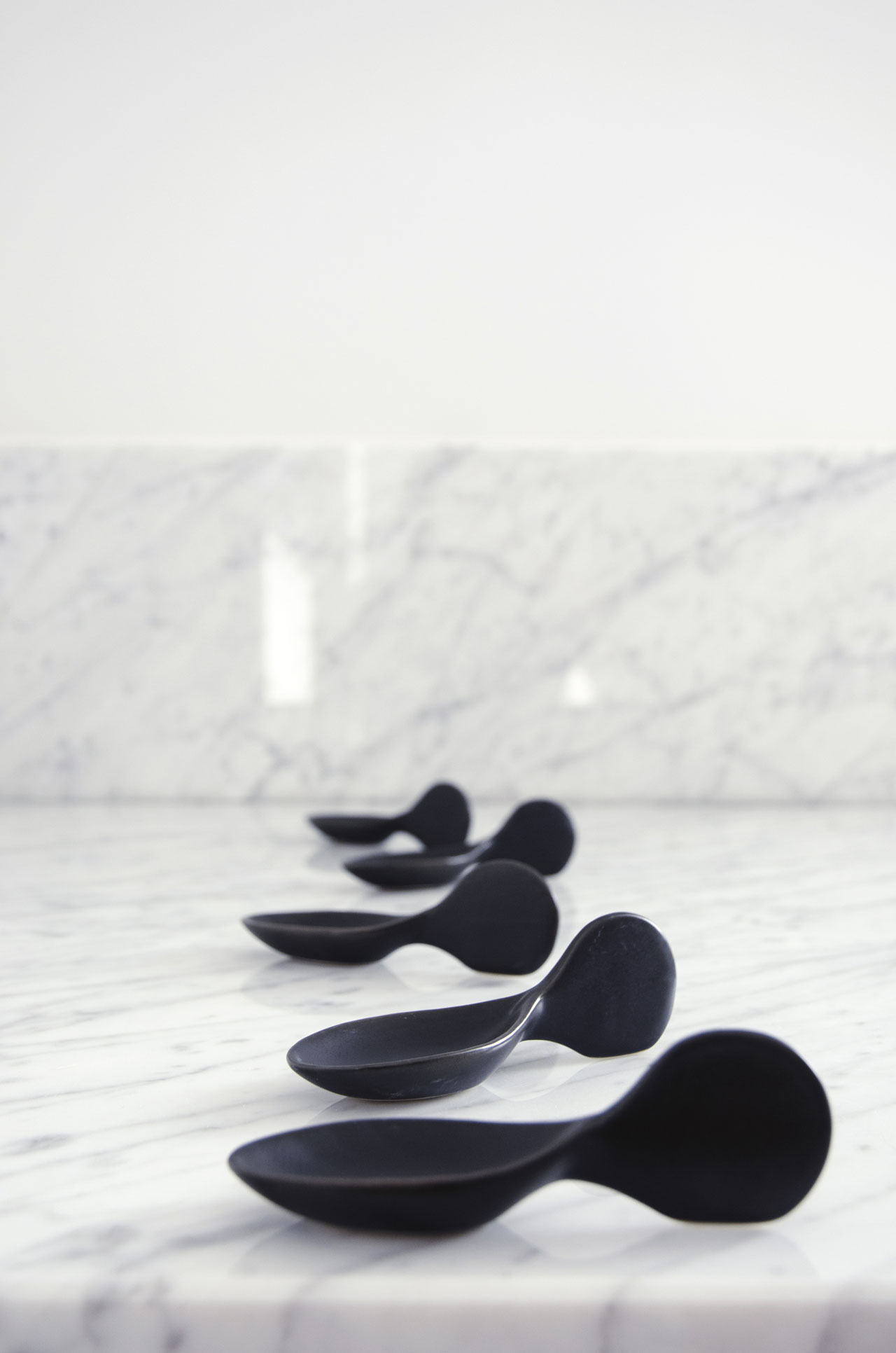 Ceramic Coctail Spoons by Mimou.
