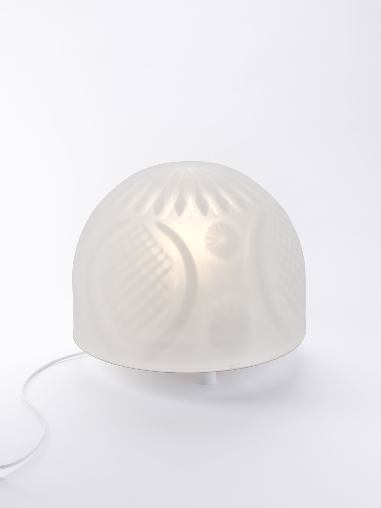 New table lamps by Nathalie Dewez for Val Saint Lambert.