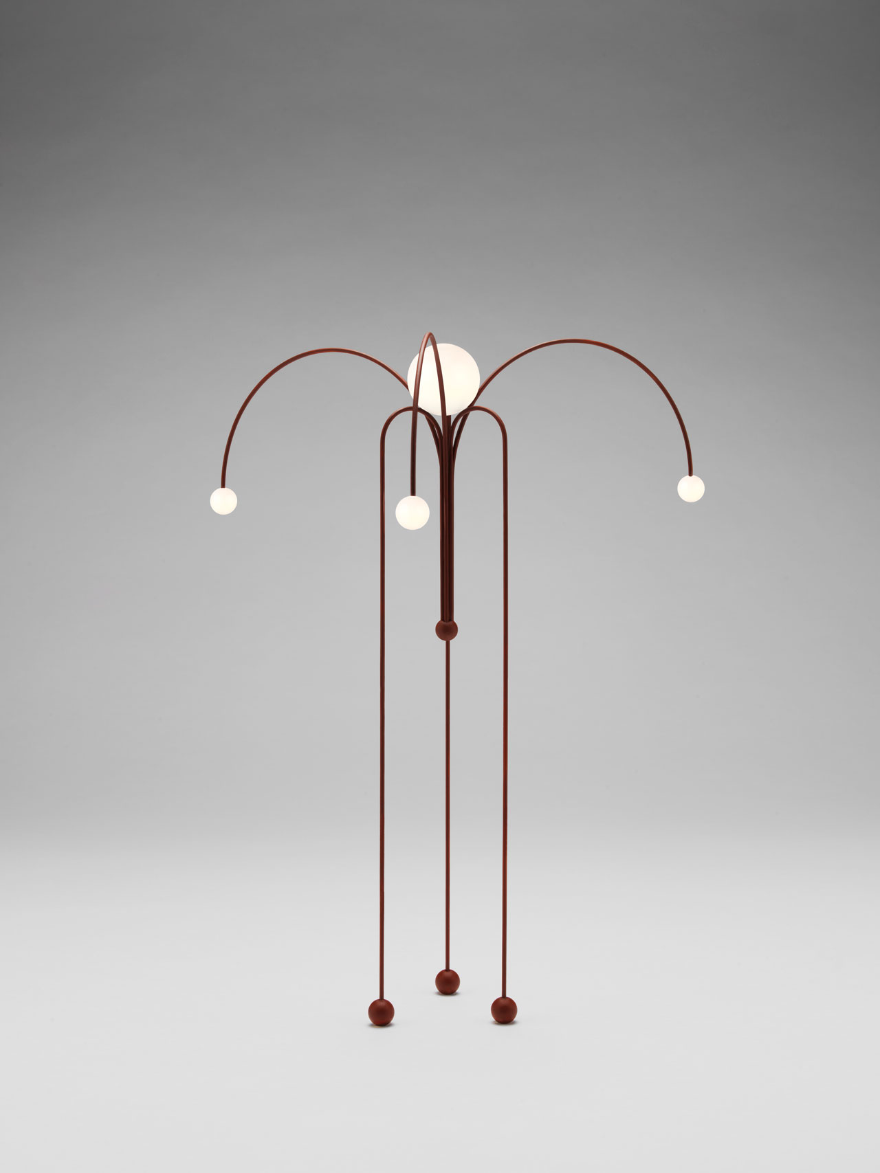 Fontana Amorosa floor lamp by Michael Anastassiades for Nilufar Gallery.