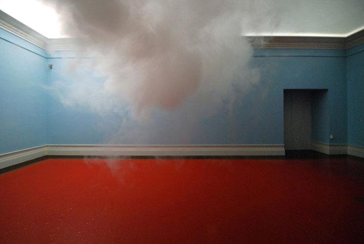 Berndnaut Smilde, Nimbus, 2010.Cloud in room.Digital C-type Print , 75x112 cm.Probe#6, Suze May Sho, Arnhem.
