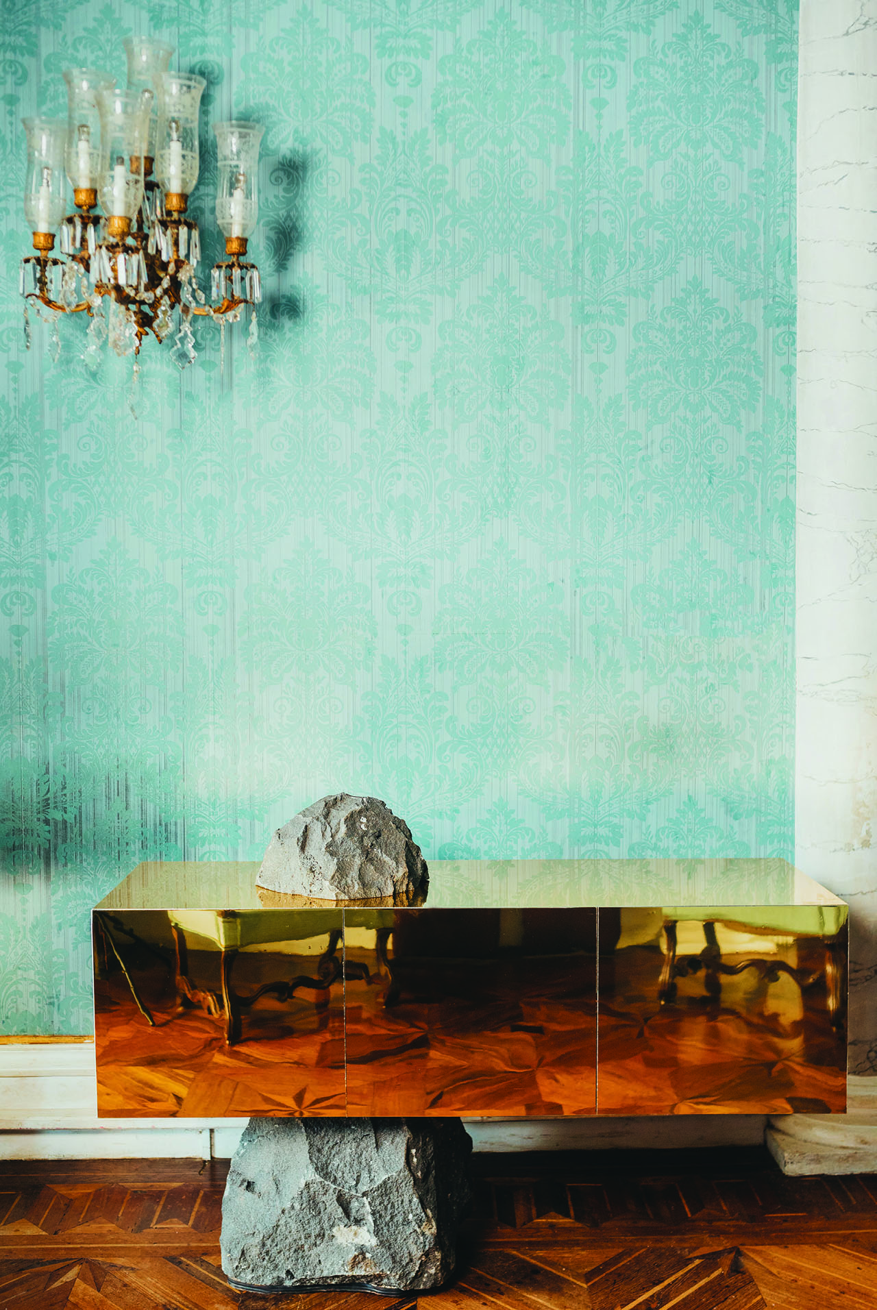 Odyssey sideboard by architect Francesco Maria Messina for Cypraea.