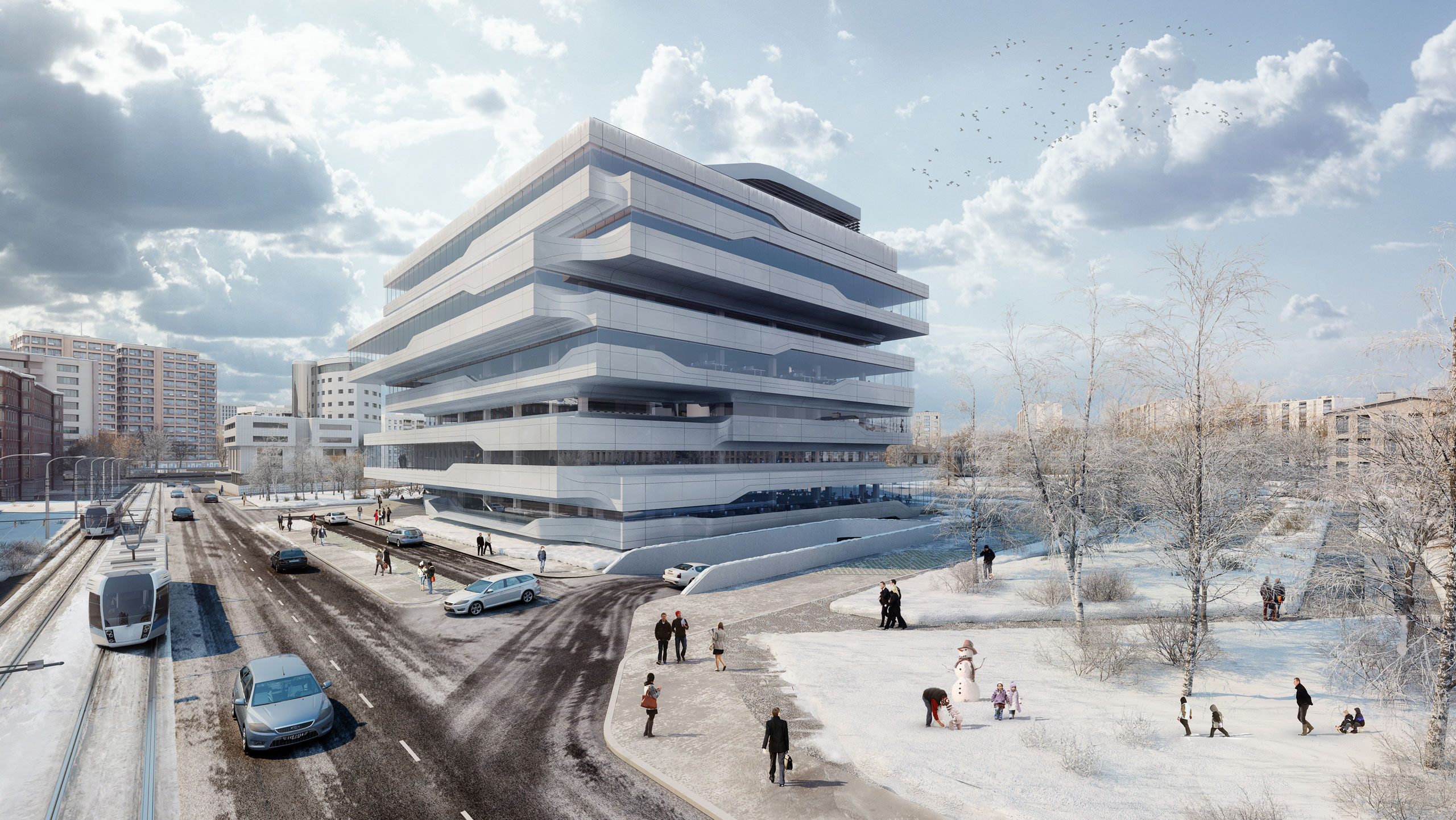 dominion office building in moscow russia by zaha hadid architects yatzer - Zaha Hadid Architect Buildings