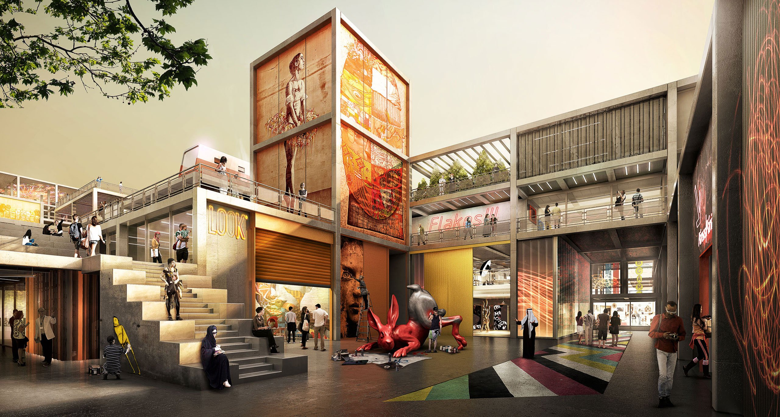 Dubai Design District, d3, after the completion of the second phase.