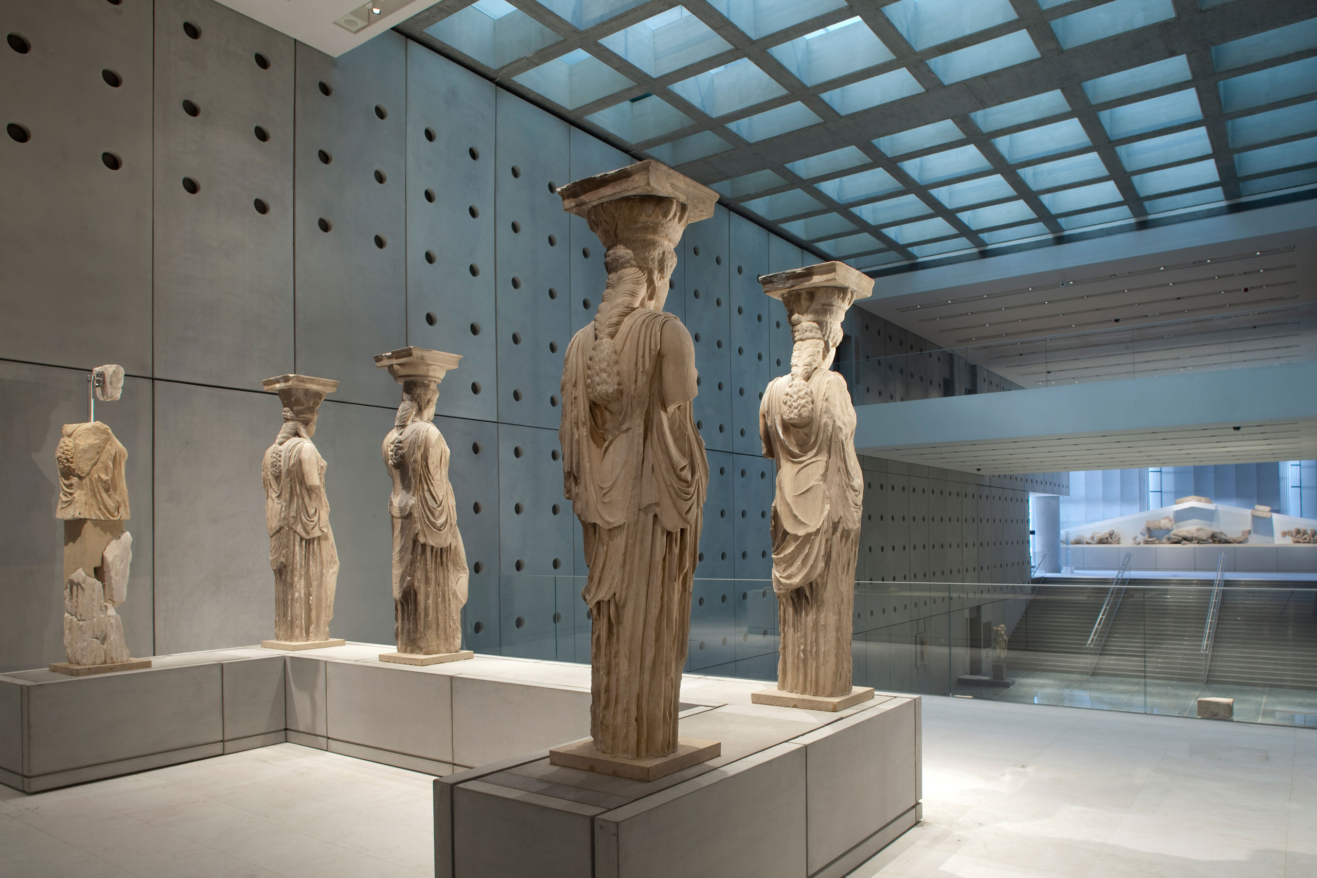 The Karyatids from the Erechtheion.​Photo by Nikos Daniilidis © Acropolis Museum.