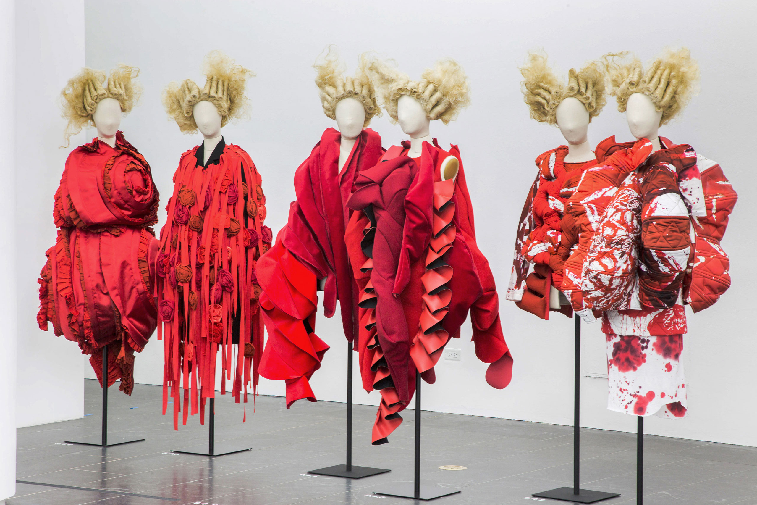 Rei Kawakubo/Comme des Garçons: Art of the In-Between. Gallery View, Clothes/Not Clothes: War/Peace © The Metropolitan Museum of Art.