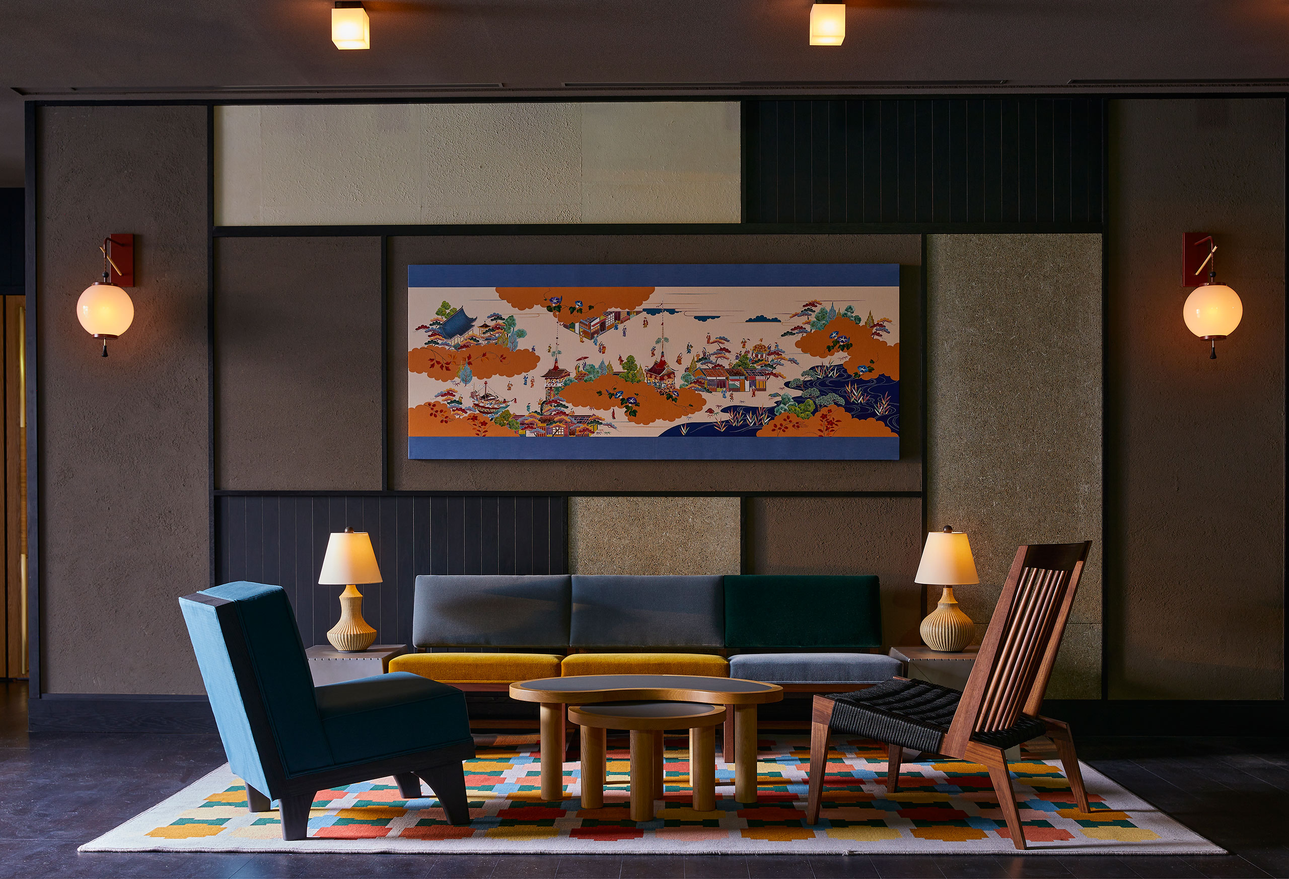 Ace Hotel Kyoto. Pre-function room. Photo by Yoshihiro Makino.