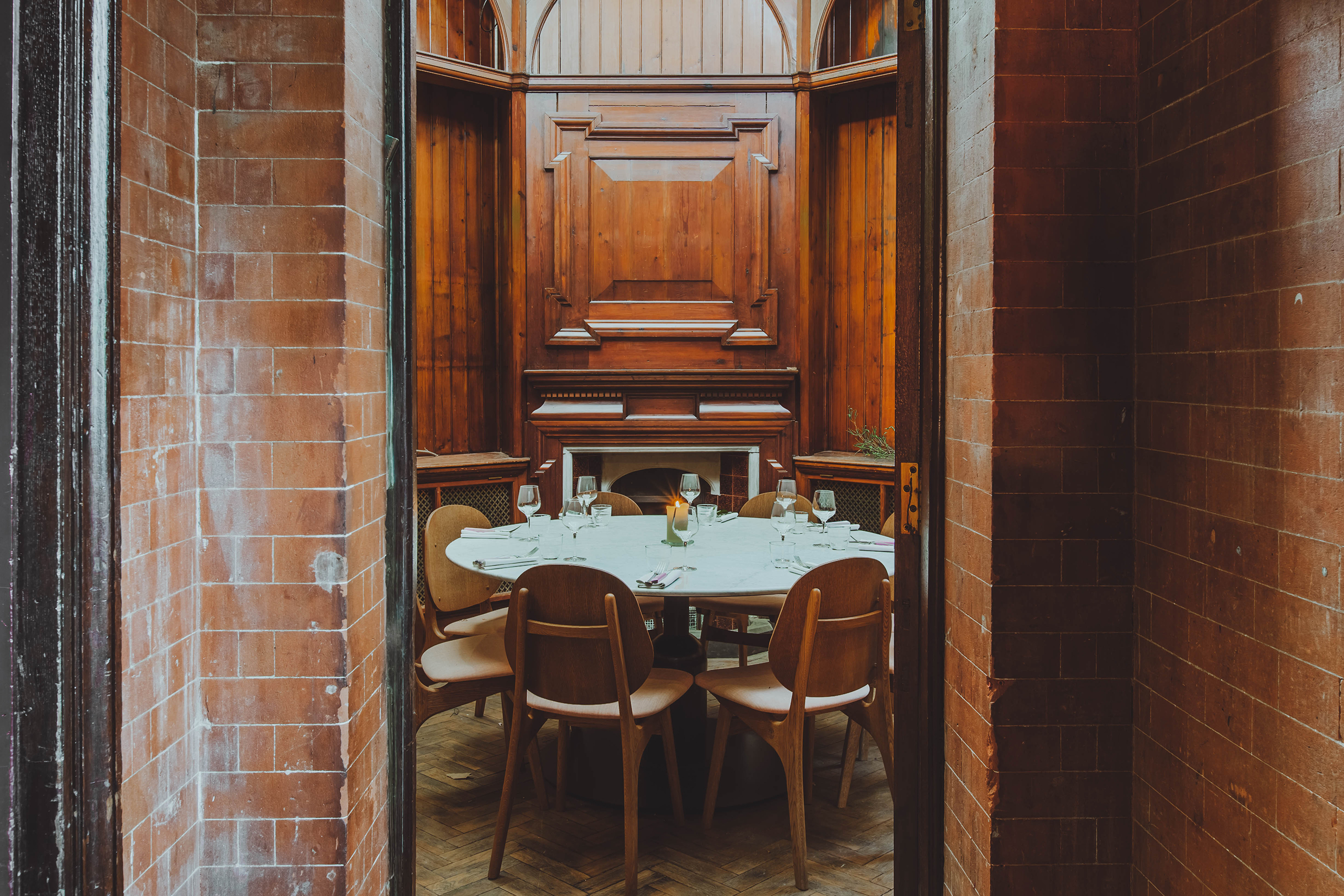 """""""The Gun Room"""" - private dining. Photo by Adam Firman."""