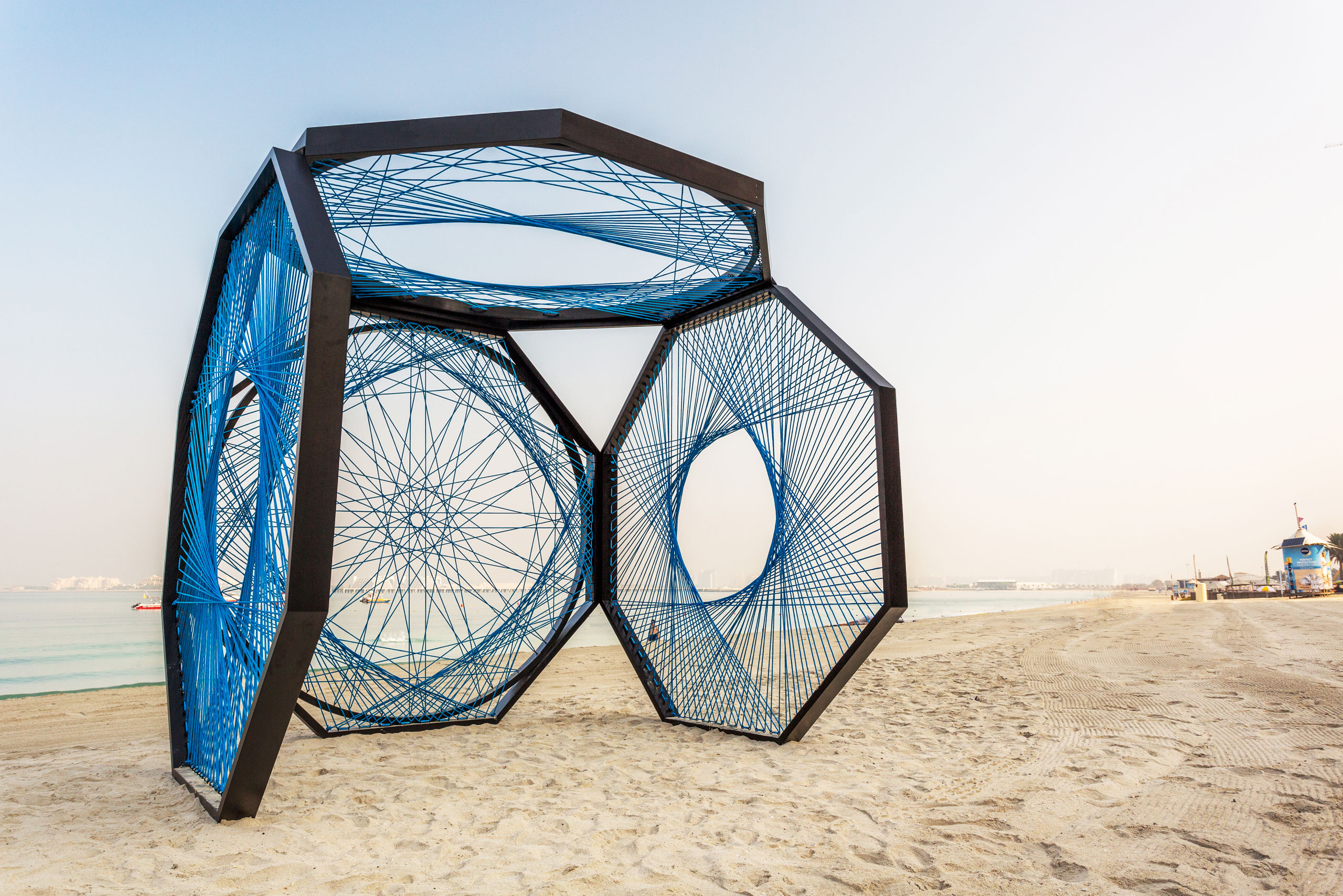 Yaroof installation by Aljoud Lootah. At The Beach, Opposite JBR, Dubai.