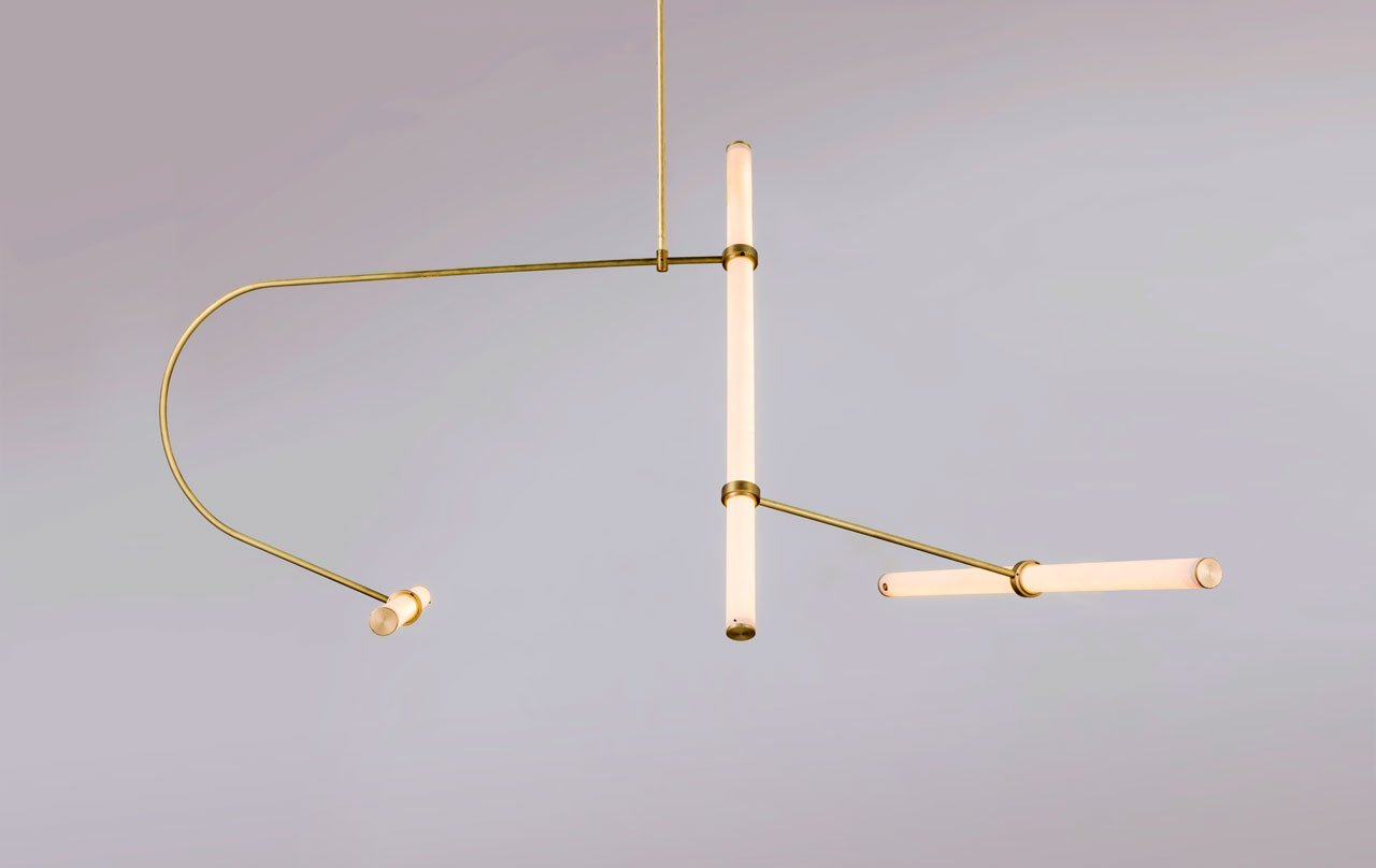 The Tube Pendant Collection: A modular light system designed by Naama Hofman.