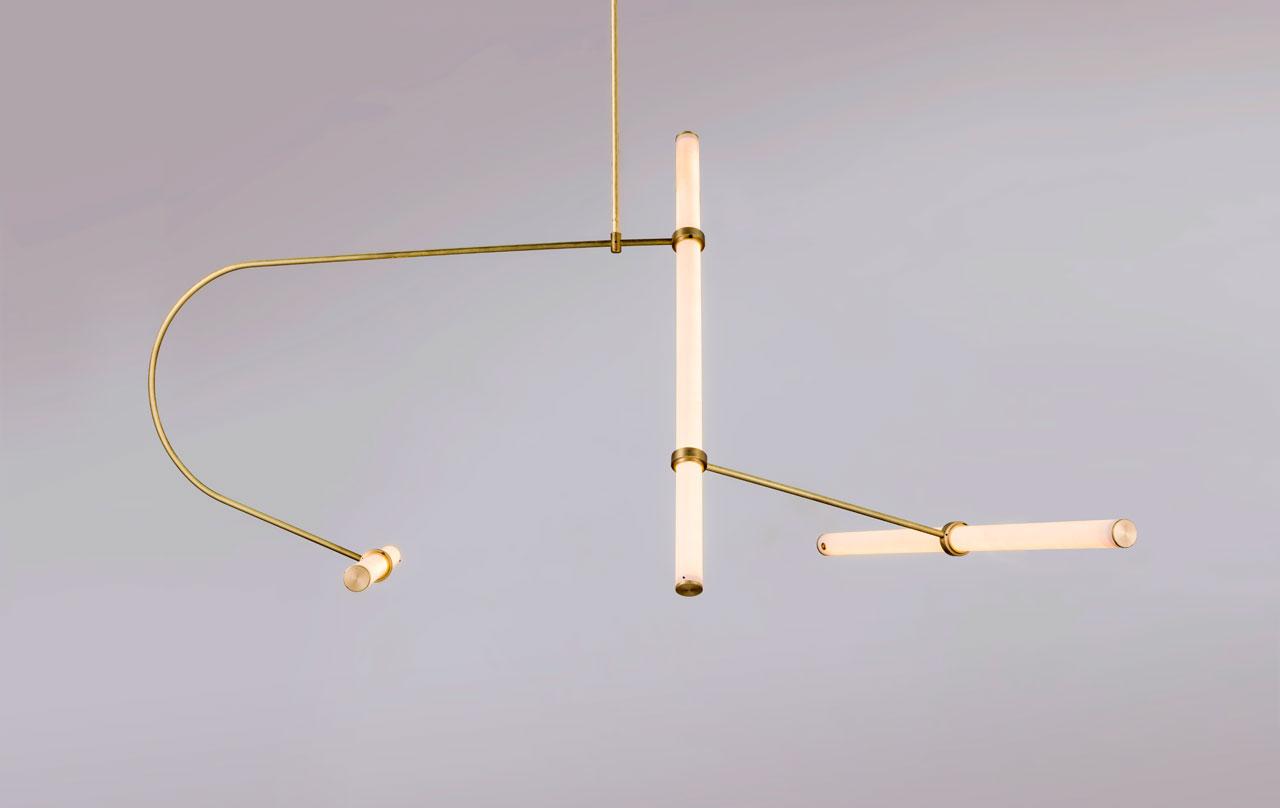 The Tube Pendant Collection: A modular light system designedby Naama Hofman.