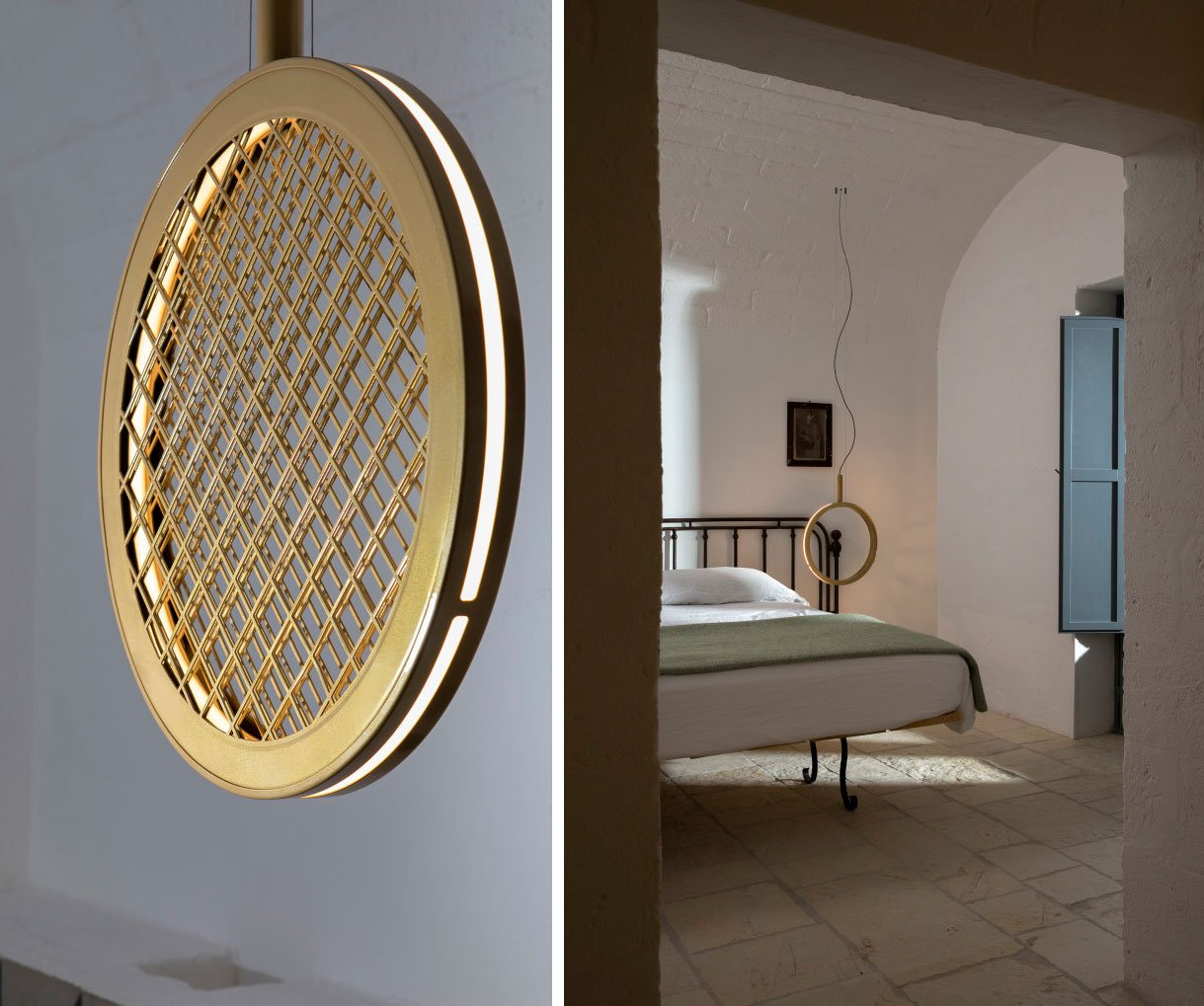 PERIPLO ring of light  - with and without metal weave -  by Dario De Meo & Luca De Bona for Karman.