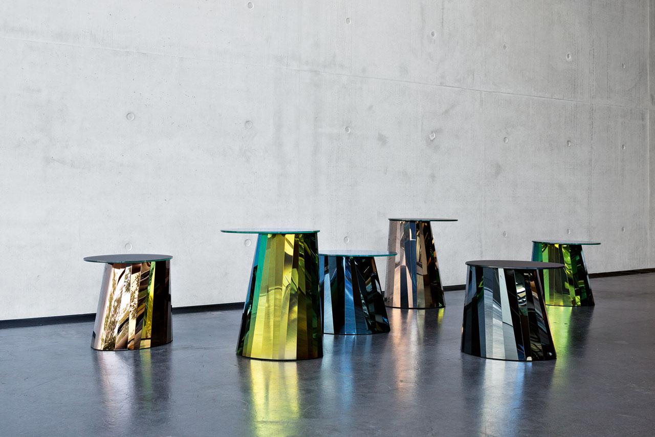 Pli Side Tables by Victoria Wilmotte for ClassiCon.Photo©ClassiCon.