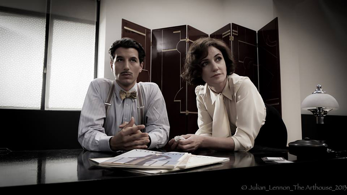 Francesco Scianna (as Jean Badovici) and Orla Brady (as Eileen Gray). The Price Of Desire (2014).