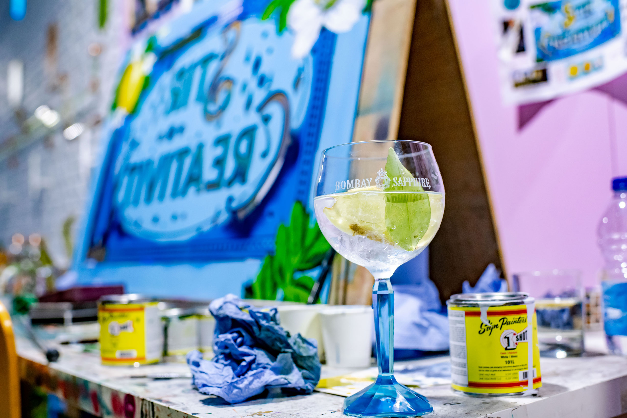 CANVAS event by Bombay Sapphire, London, July 2018. Installattion view by Elias Joidos © Yatzerland Ltd.