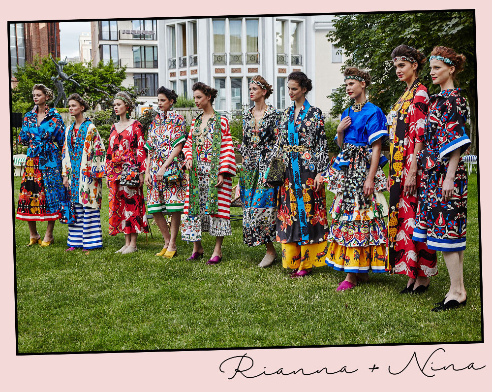 It's All Greek To Me, 2018.Rianna + Nina.Photo by Sarah Jane during the presentation of the collection at the Kronprinzenpalais in Berlin (6 July 2017).