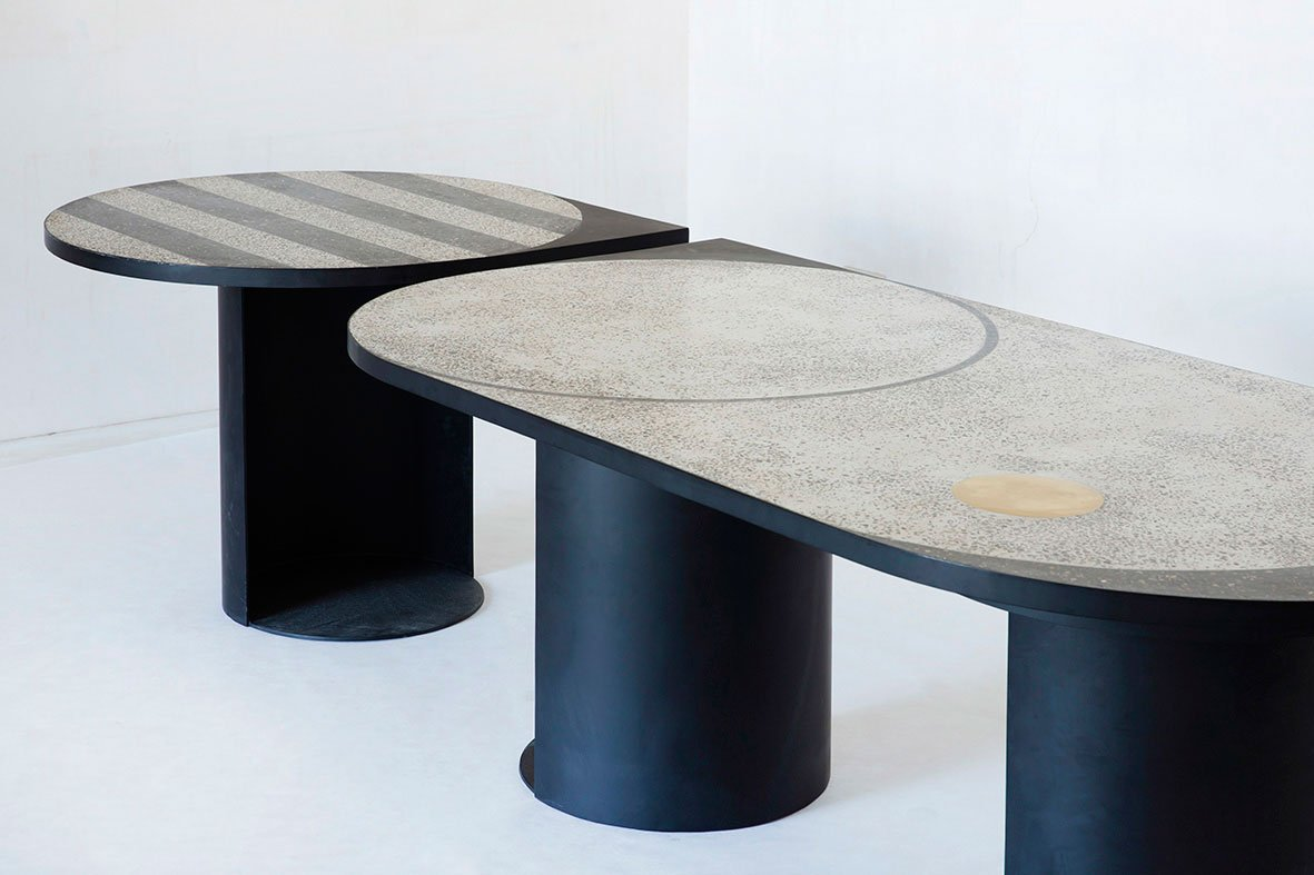 TERRAZZO geometric tables by ROOMS DESIGN.