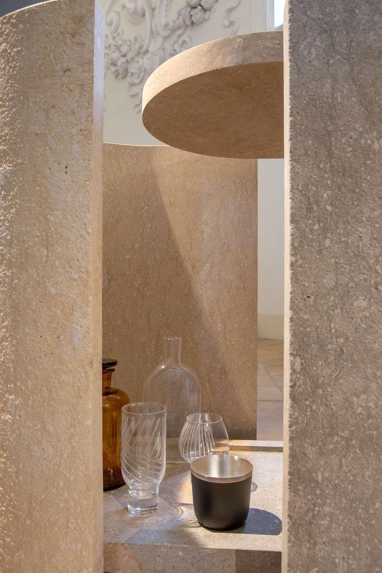 EDIT Napoli exhibition view.BCXSY for Laboratorio Morseletto,Bicolore (mini-bar). Photo © Roberto Pierucci.