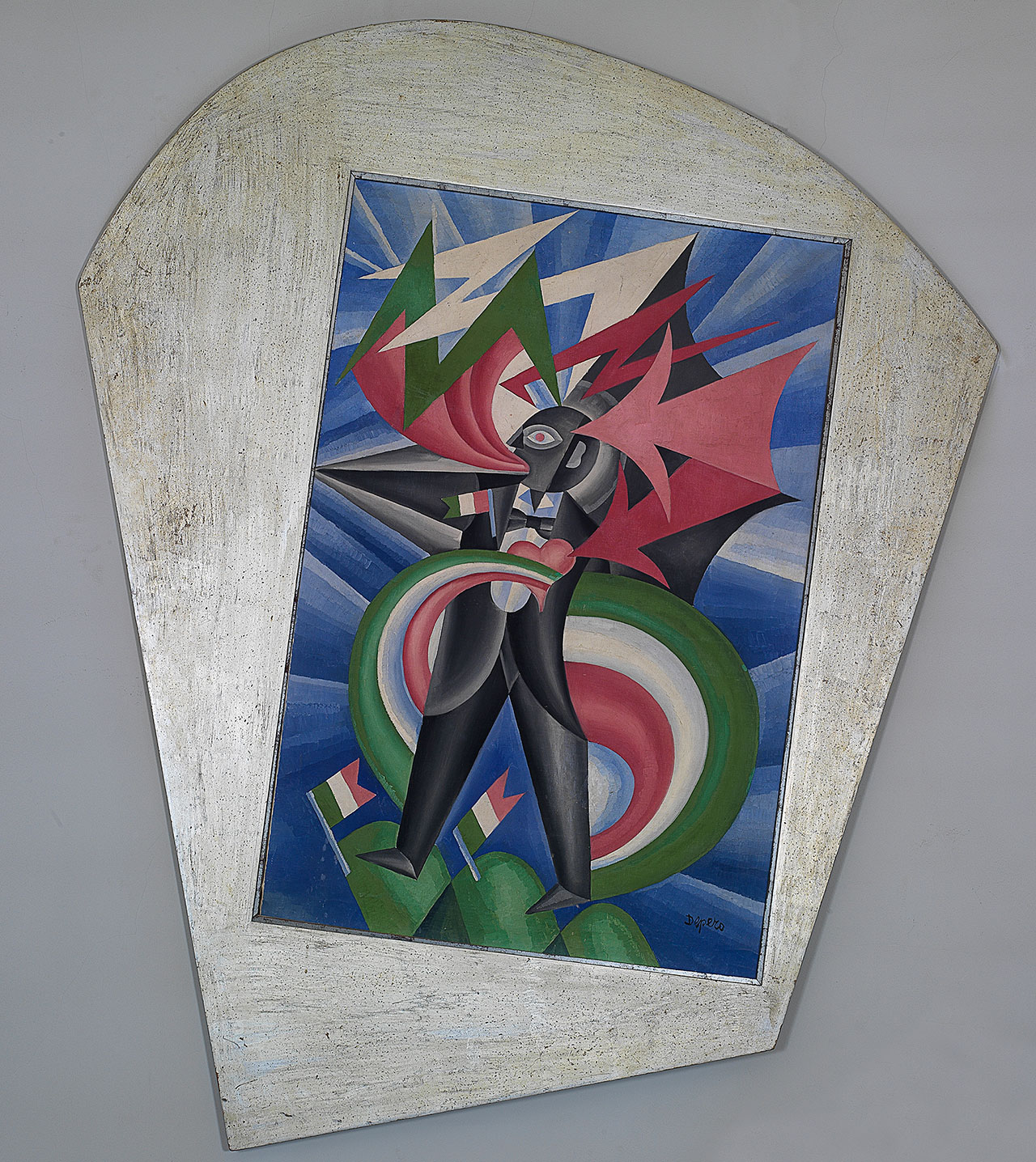 Fortunato Depero, Marinetti temporale patriottico, Ritratto psicologico, 1924, oil on canvas, 150x100 cm. Private collection. Photo: Photographic Studio Luca Carrà © Fortunato Depero by SIAE 2018.
