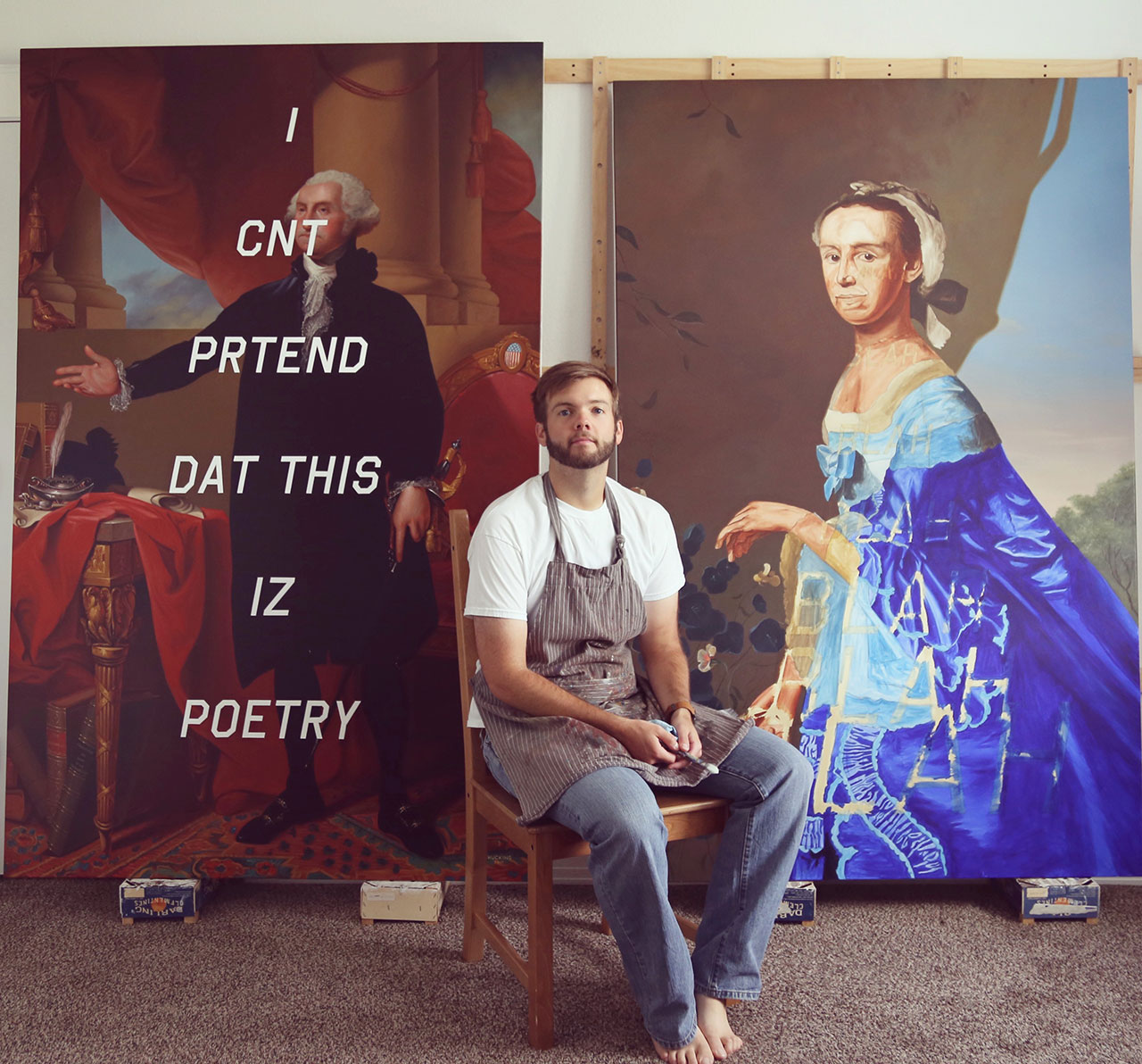 Shawn Huckins studio. Photo © Shawn Huckins.