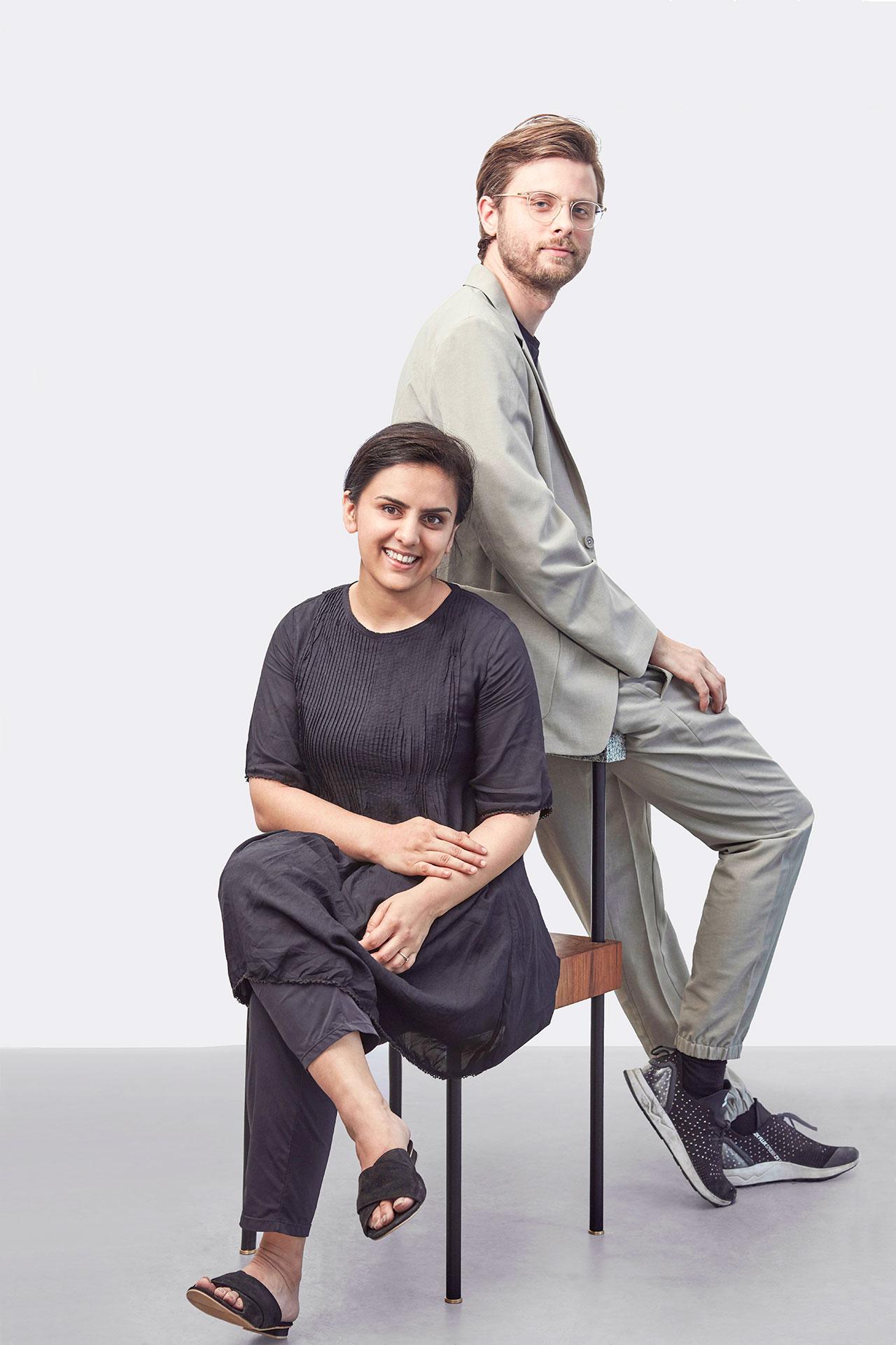 Pascal Hien & Nikita Bhate portrait. Photo bySameer Belvalkar.
