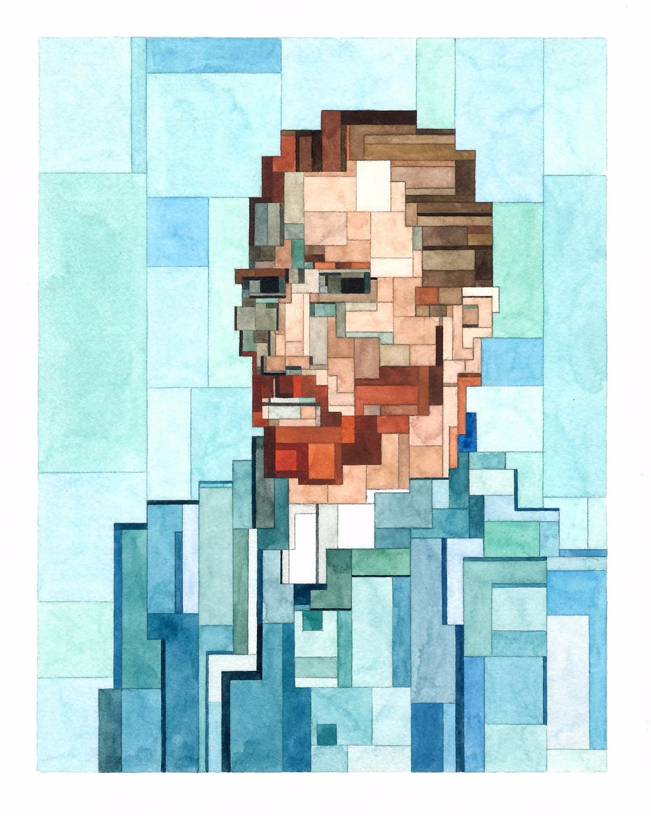 Van Gogh self-portrait, Art History 101 series by Adam Lister.(Original Painting by Vincent van Gogh, 1889).