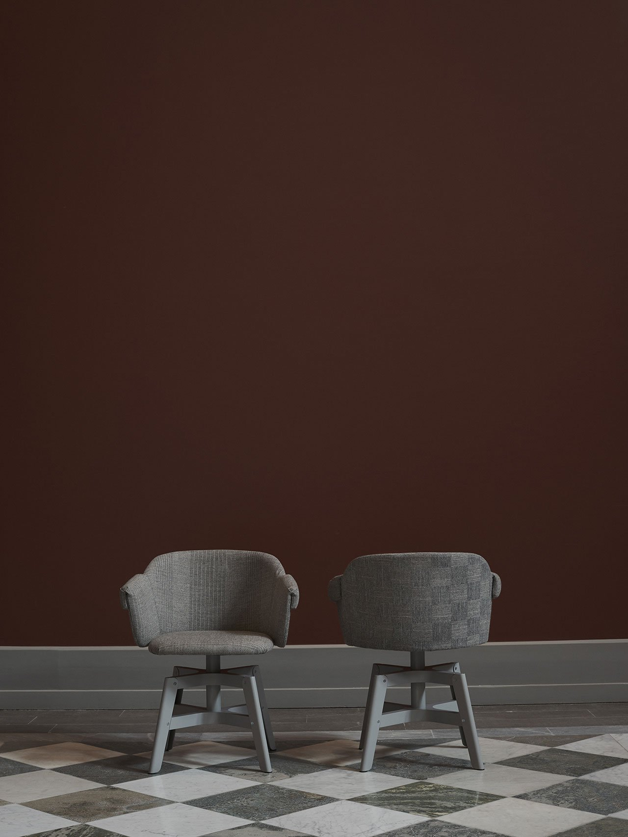"""NM& 036: """"Kavalett""""swivel base chair by Matti Klenellproduced by Swedese. Photo by Pia Ulin."""