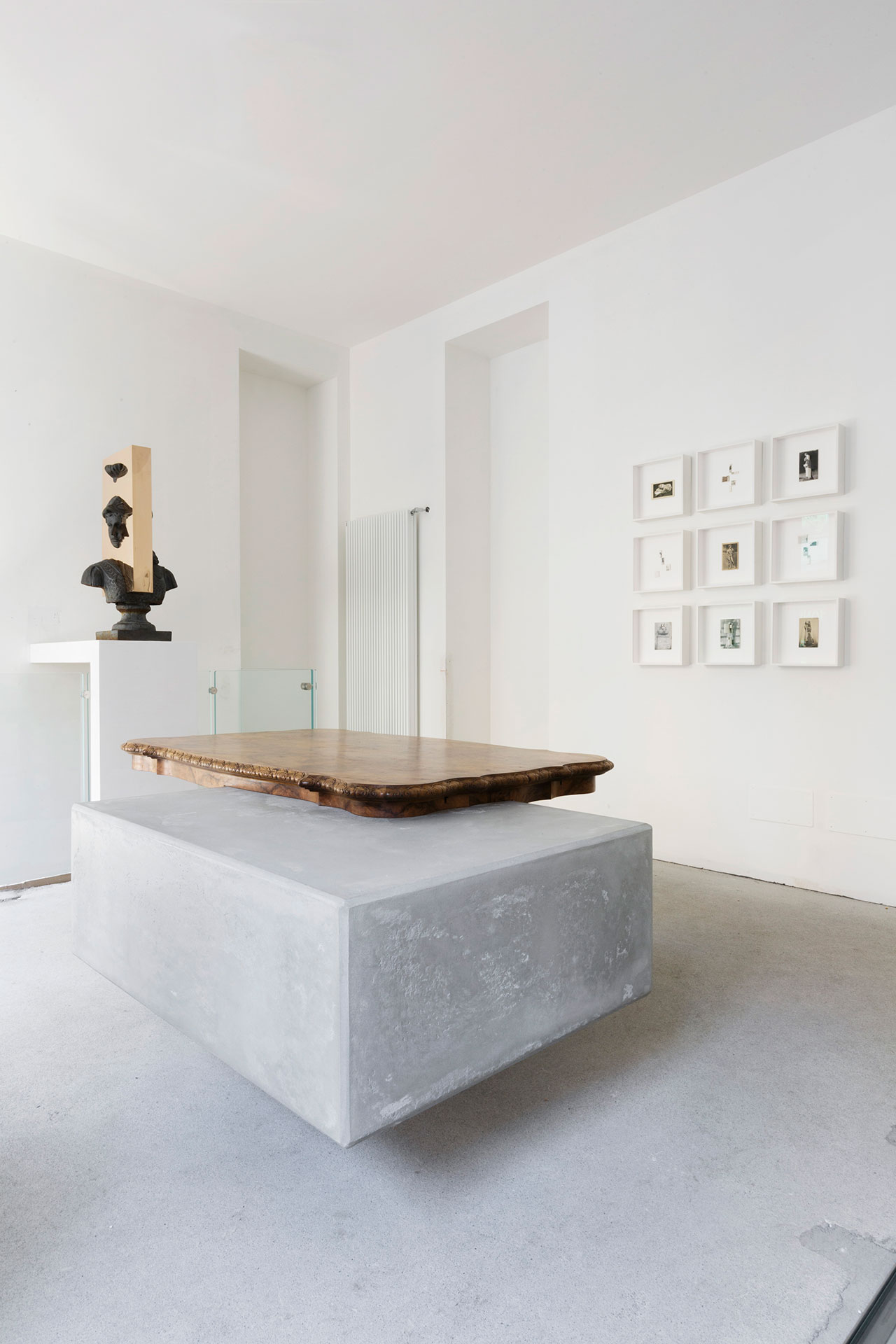 "Nucleo (Piergiorgio Robino + Marzia Ricci), ""Boolean"" And  (Table), 2017. Concrete, vintage furniture, 204 x 142 x 80h cm. Unique piece. Photo by Studio Pepe Fotografia."
