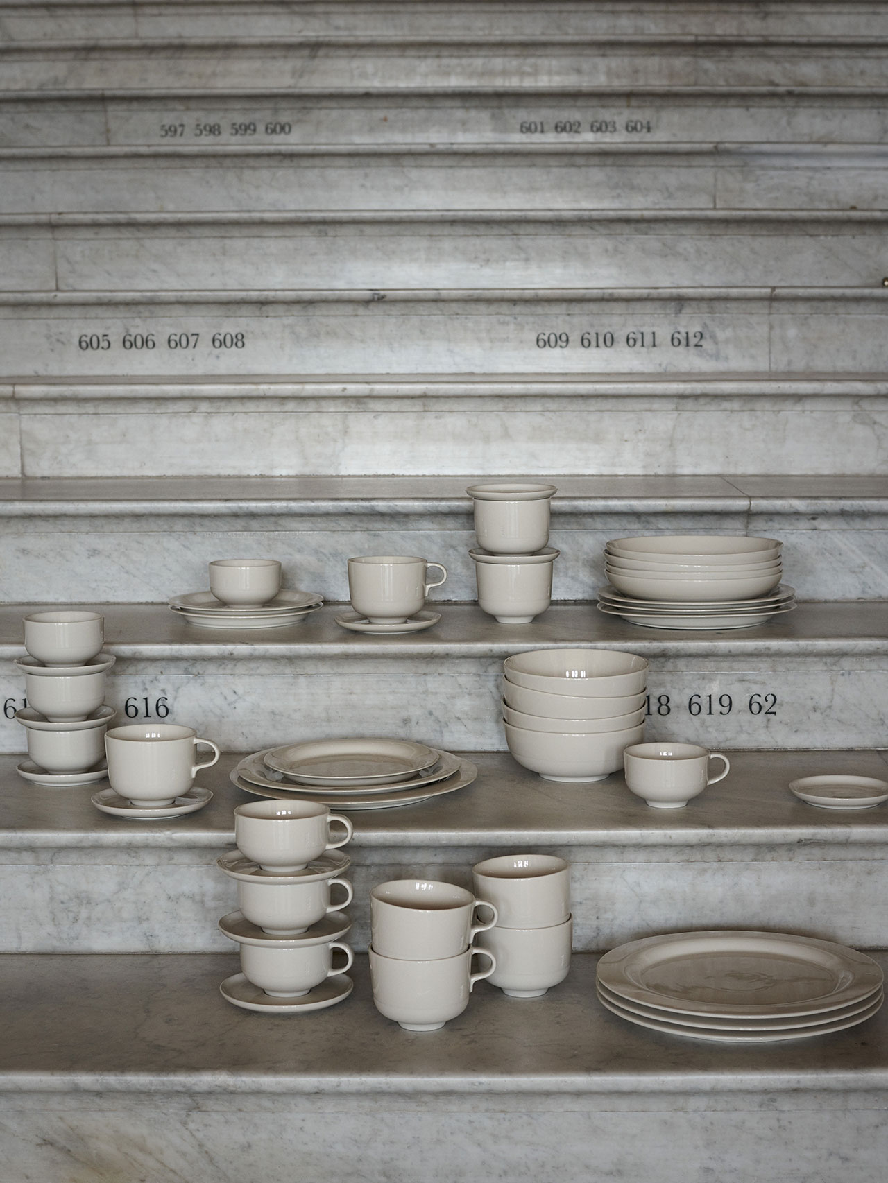 "NM& 062: ""Sand"" tableware by Carina Seth Andersson produced by Design House Stockholm. Photo by Pia Ulin."