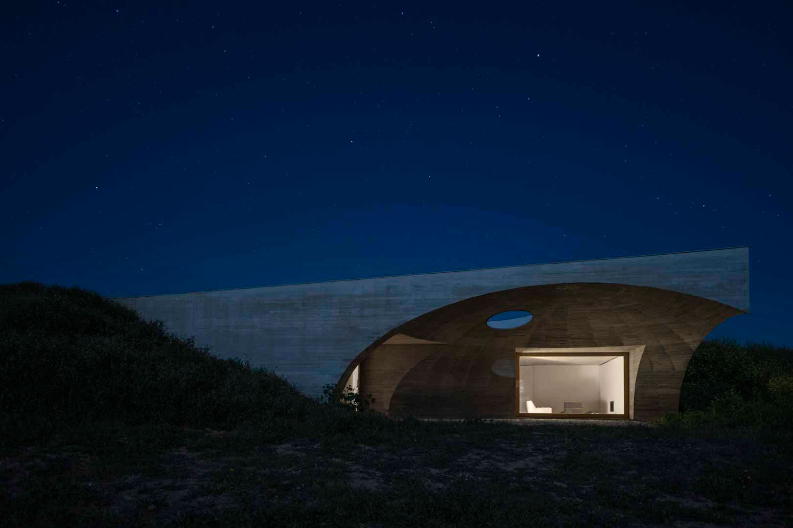 House in Monsaraz by Aires Mateus Architects. Photo by Joao Guimaraes.