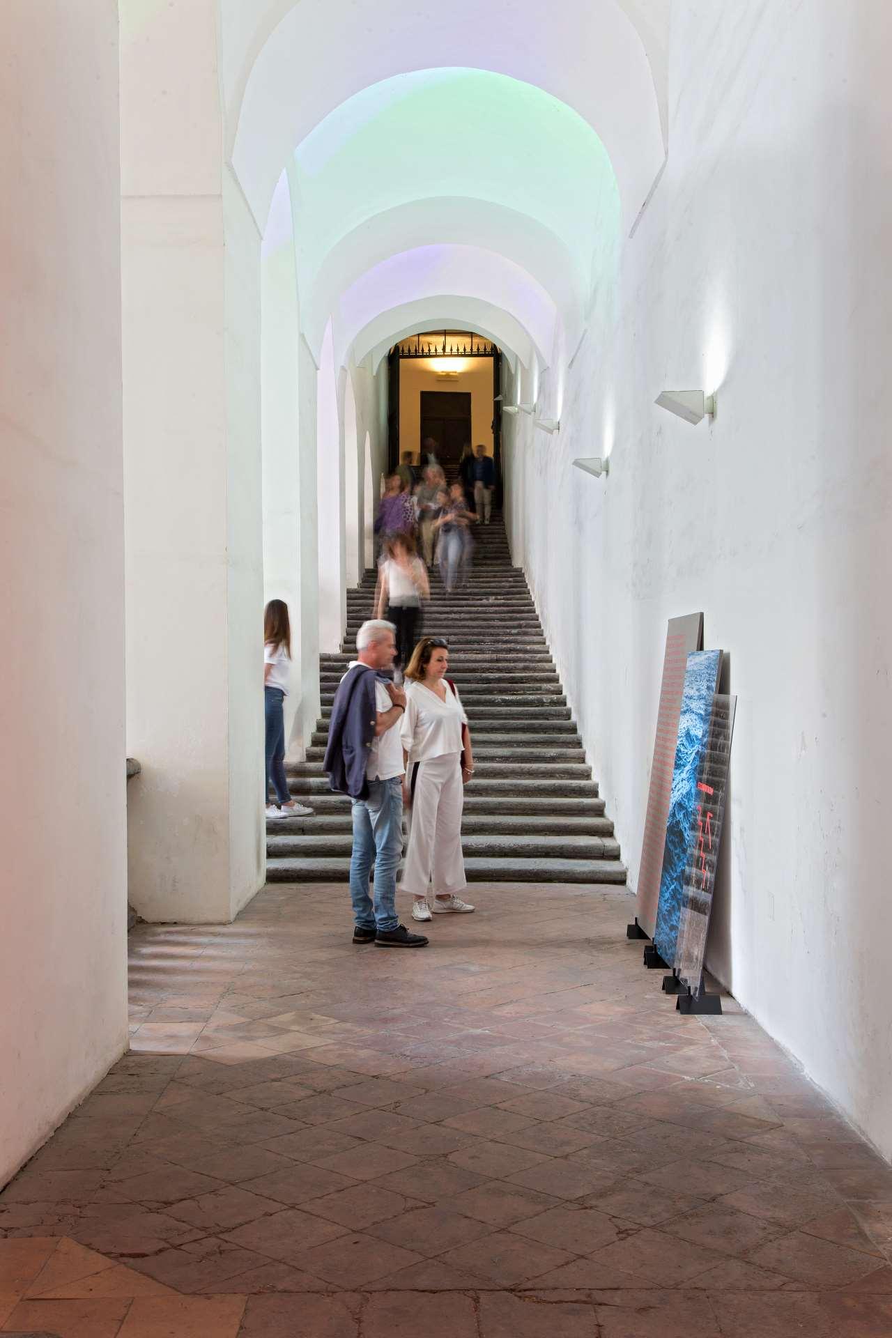 EDIT Napoli,Entrance stairway to the first floor of the S Domenico Maggiore Complex.Photo © Roberto Pierucci.