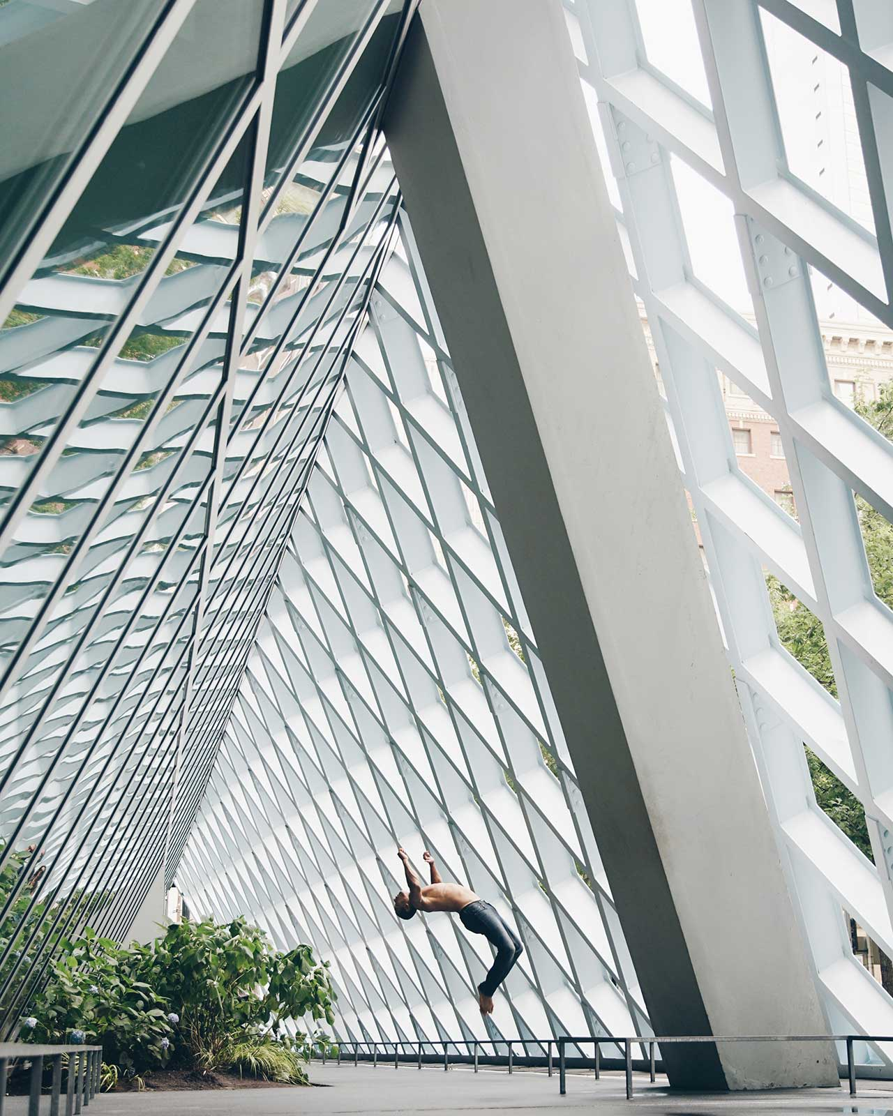 Location: Seattle Public Library | Dancer Nic Walton | Photo © Jacob Jonas from the series #CamerasandDancers.