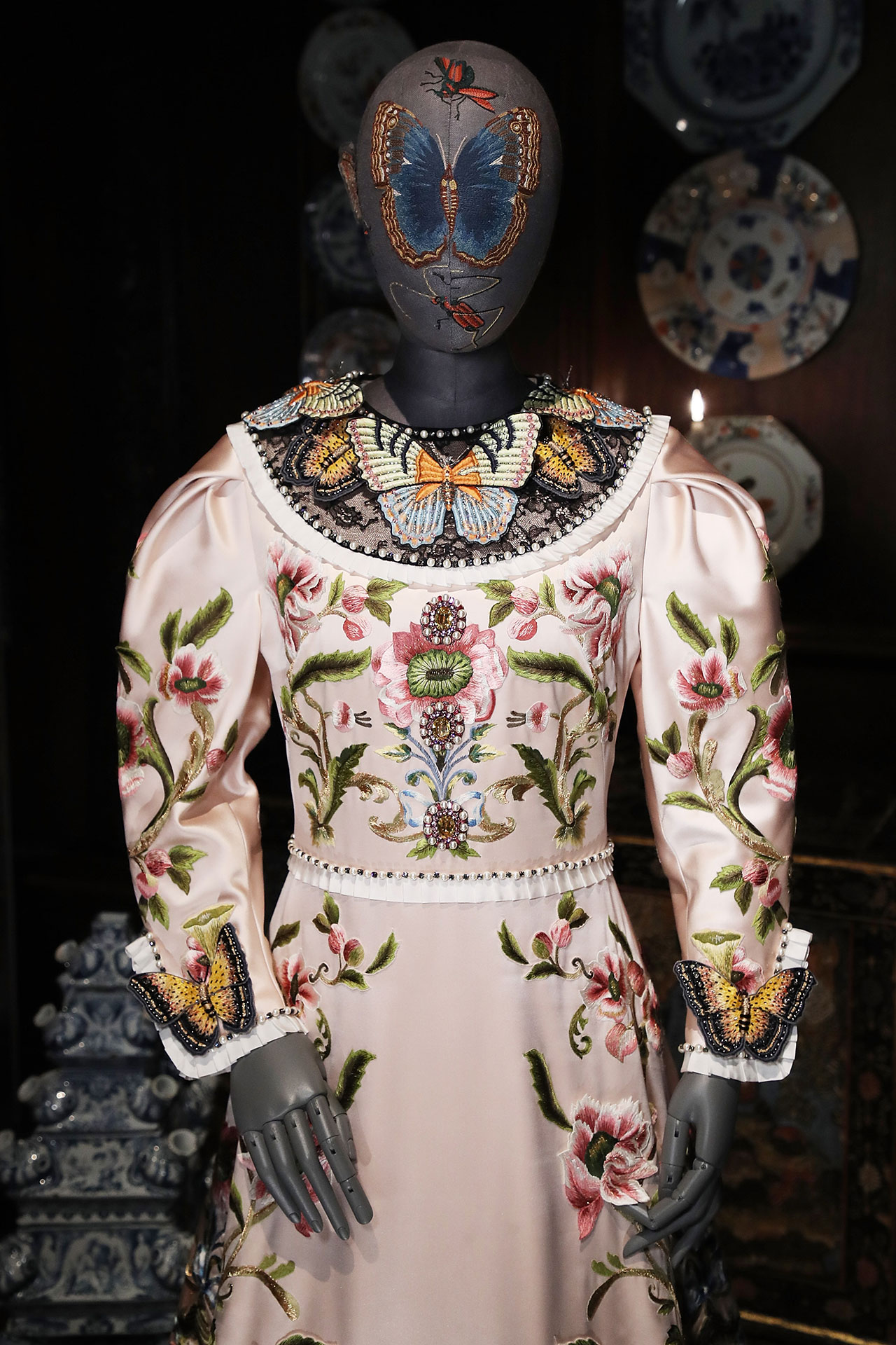 A Gucci dress created by Alessandro Michele for the Duchess of Devonshire. Photo © GUCCI.