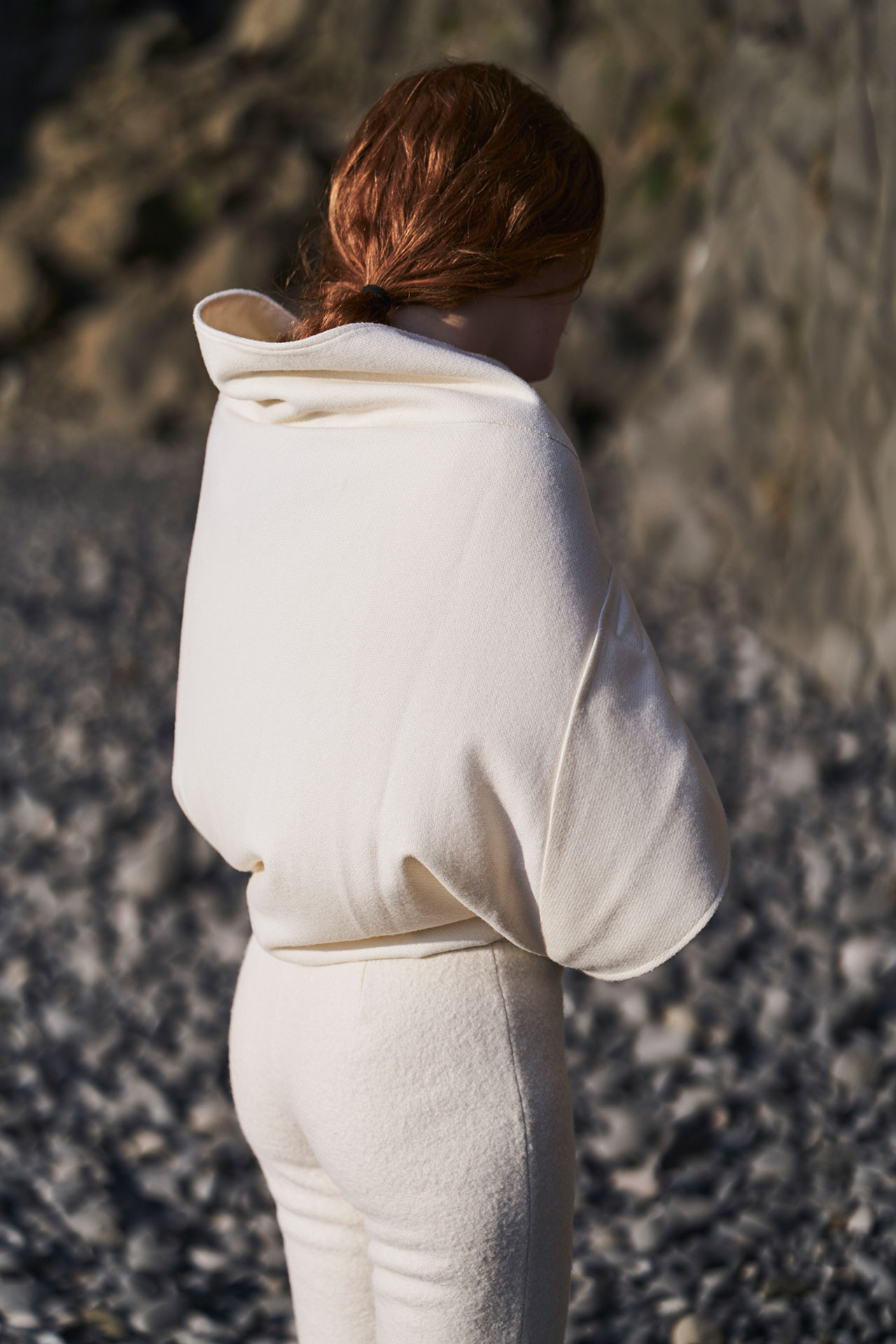 Félicie Eymard,Shawl Outfit, fromMetamorphosisCollection. Photo by Julien Hayard.